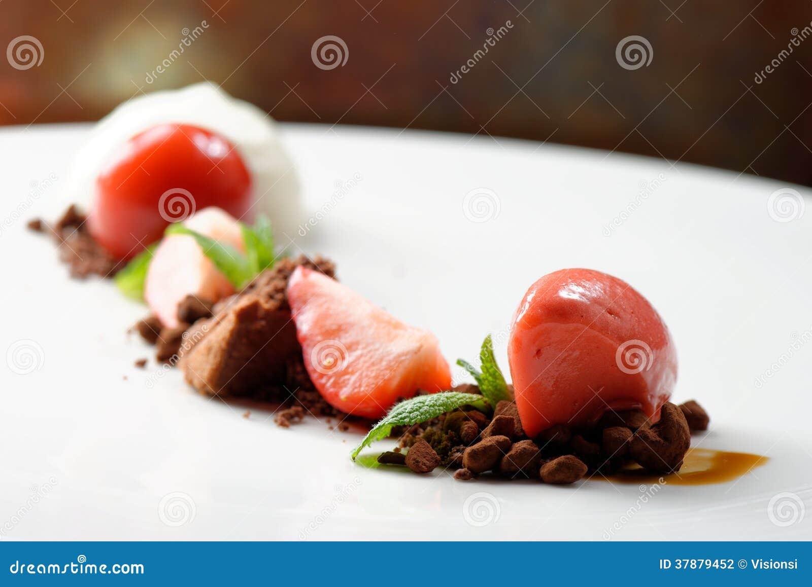 Free Kitchen Design App Fine Dining Dessert Strawberry Ice Cream Chocolate