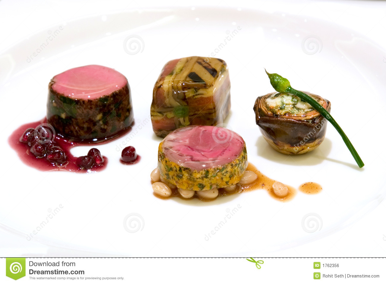 Seared Australian loin of lamb, shiraz reduction with pomegranate ...