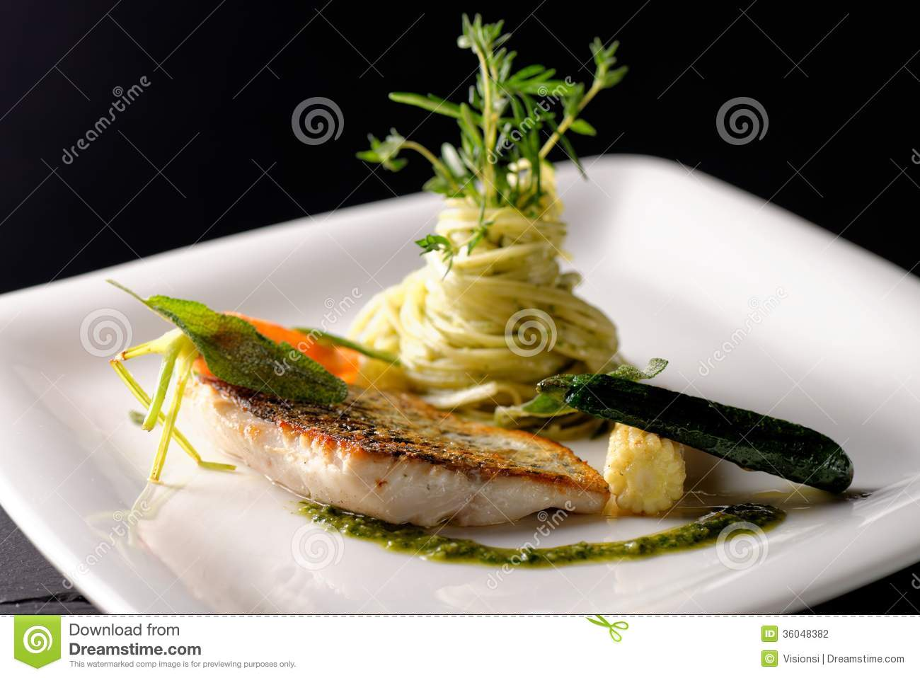Fine Dining Fish Fillet Stock Photo Image Of Fish Food