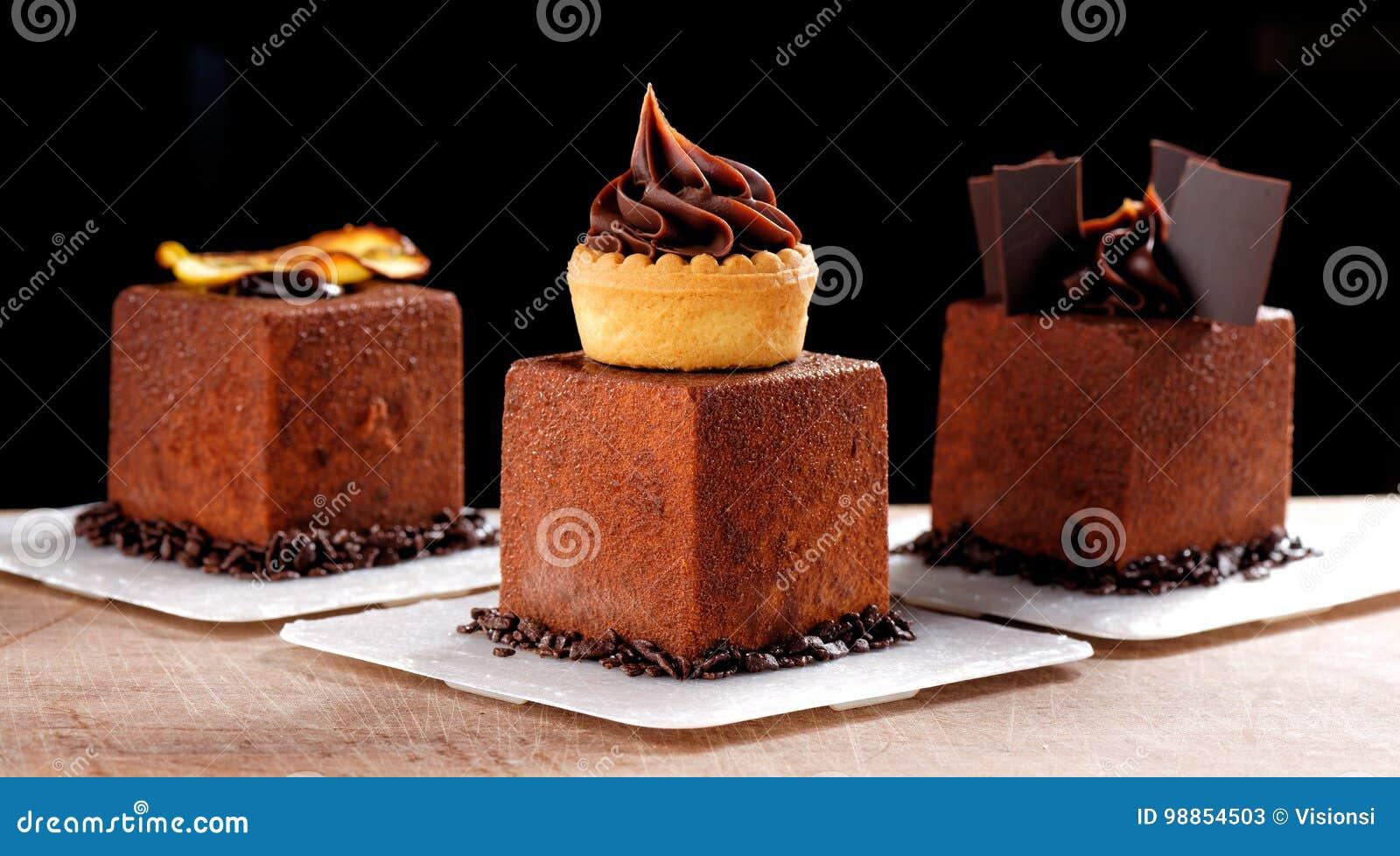 Fine dining, French dark chocolate gourmet mignon