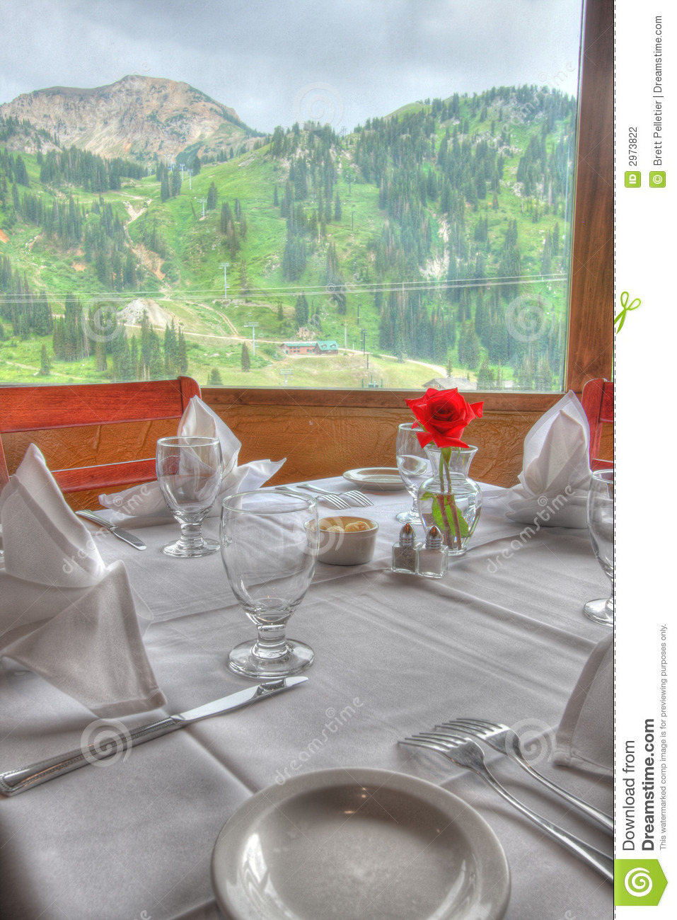 Fine Dining Restaurant Table Stock Photo Image 2973822