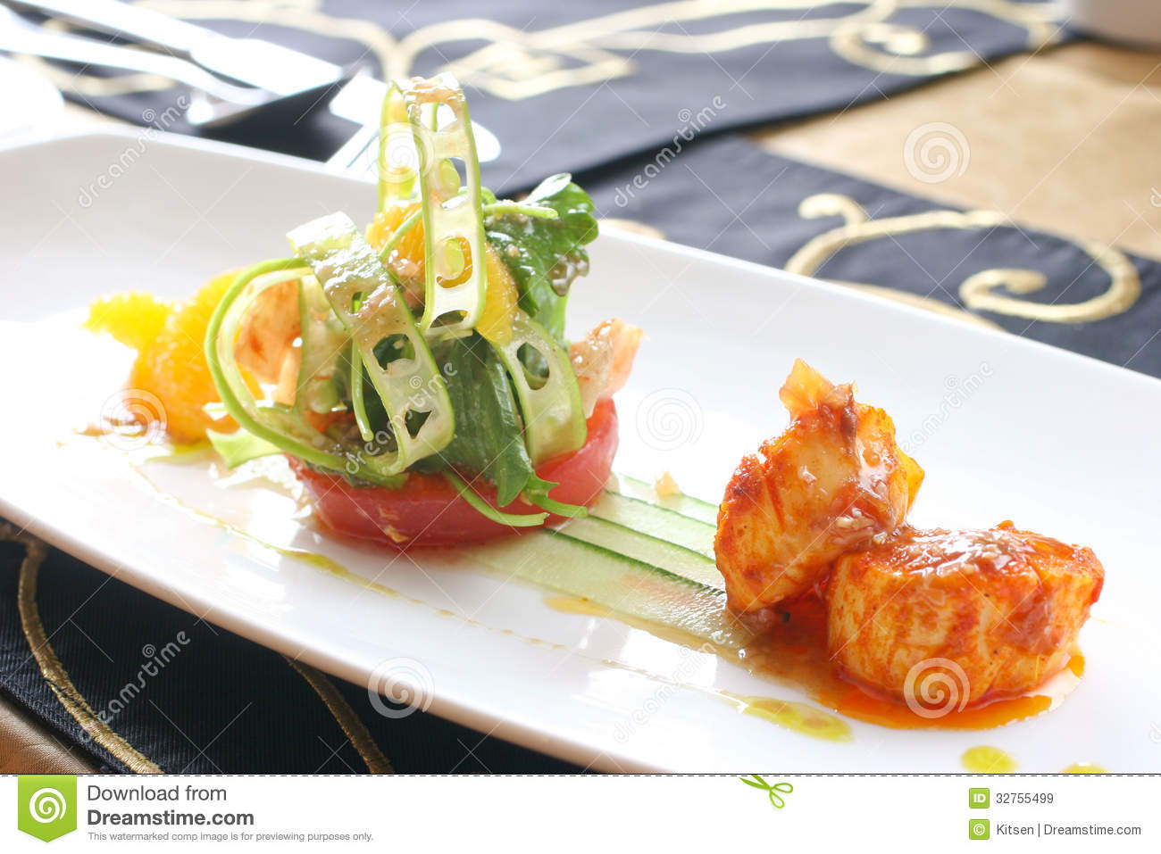 Plate of fine dining meal royalty free stock photography   image ...