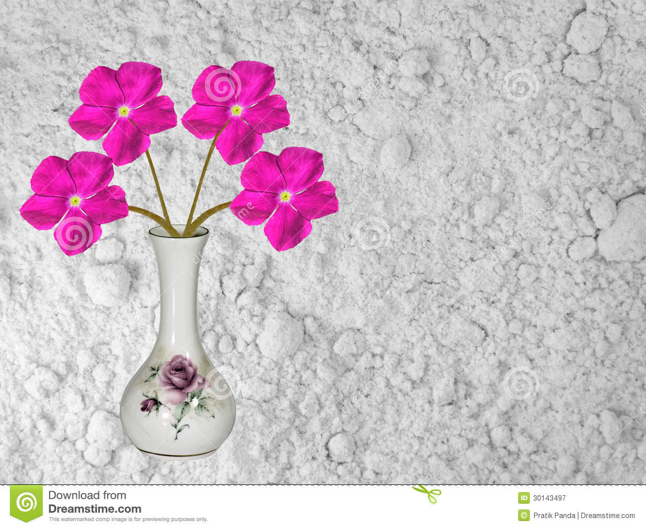 Beautiful Vase Against Stone White Background Home Decor