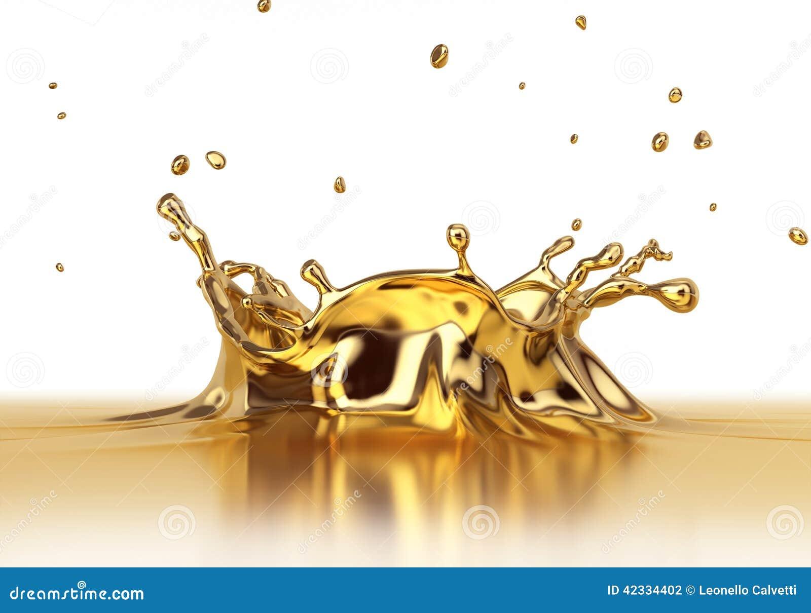 Fine liquida dello spash dell oro su
