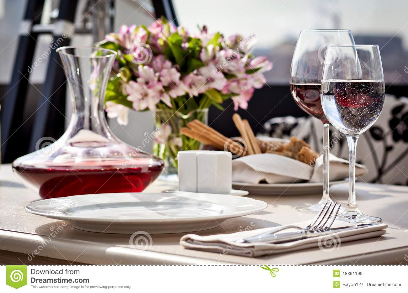 Fine Restaurant Dinner Table Place Setting Stock Image