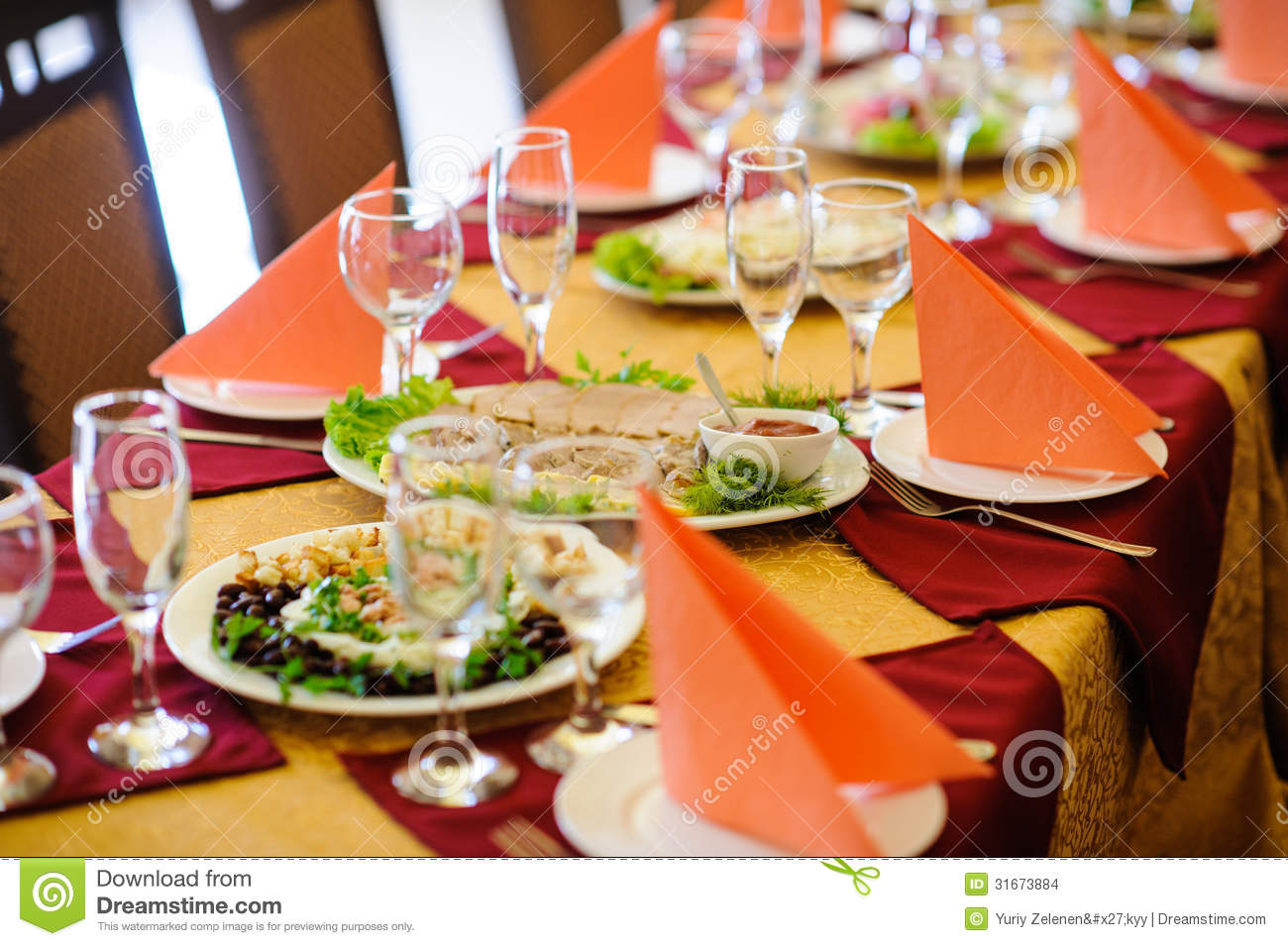 Fine restaurant dinner table place stock photo image of for Table cuisine 2 places