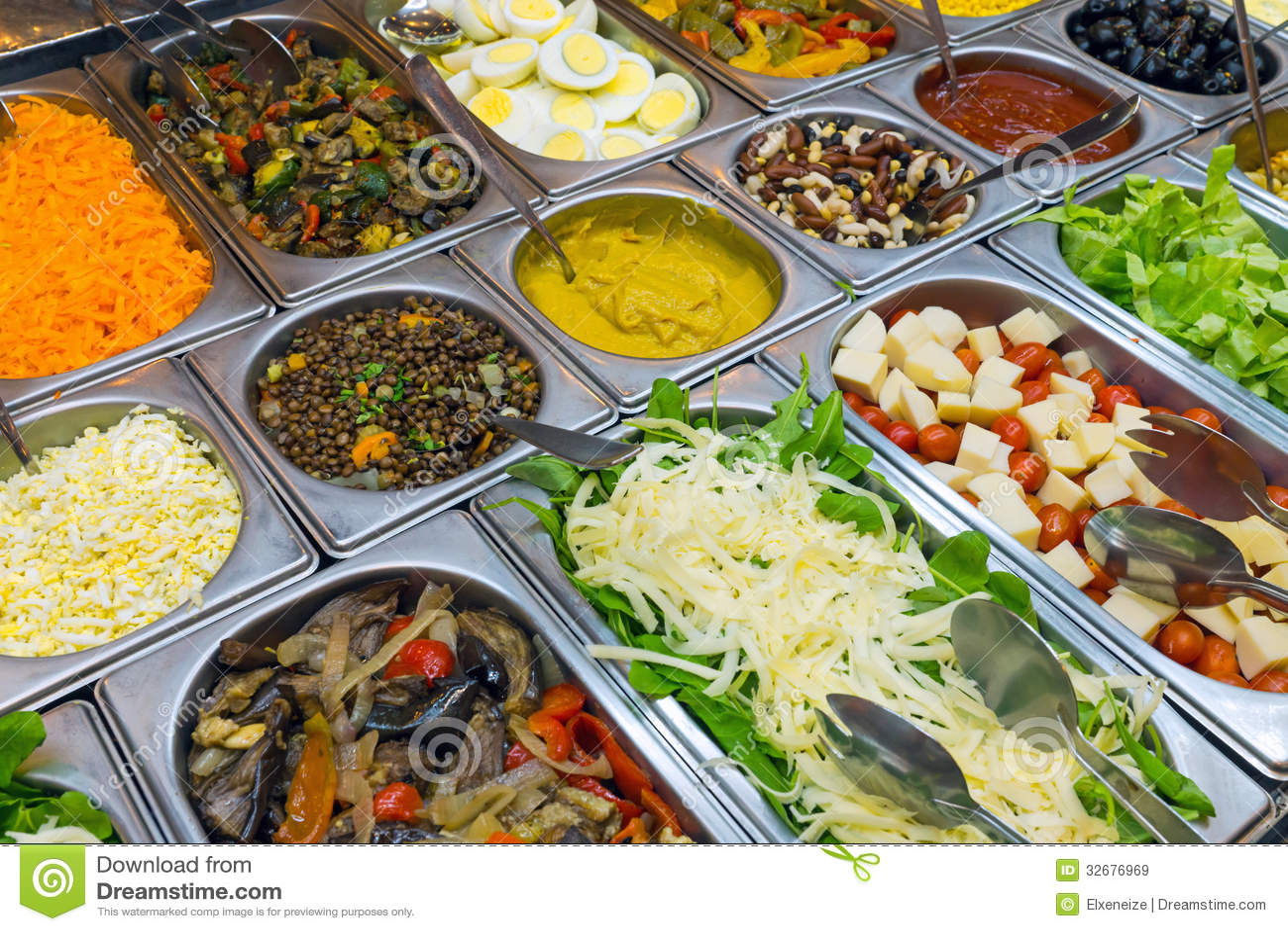 fine salad buffet stock image image of counter eggplant. Black Bedroom Furniture Sets. Home Design Ideas