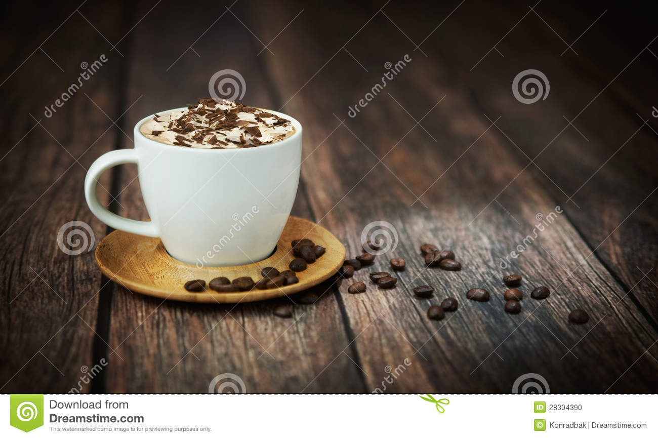 Fine shoot of cup of coffee