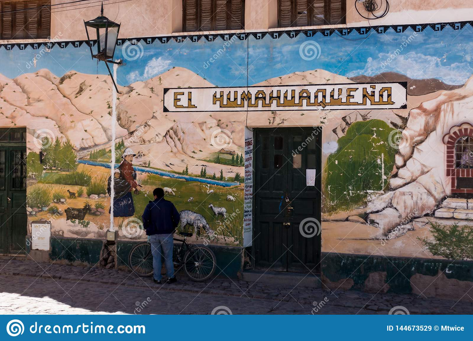 Fine street art in the north of argentina, gaucho style