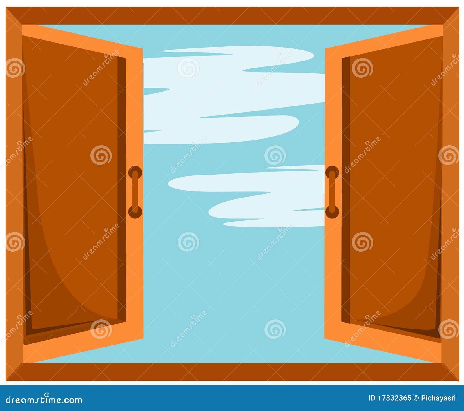 Finestra aperta illustrazione vettoriale illustrazione di for Disegno di finestra aperta