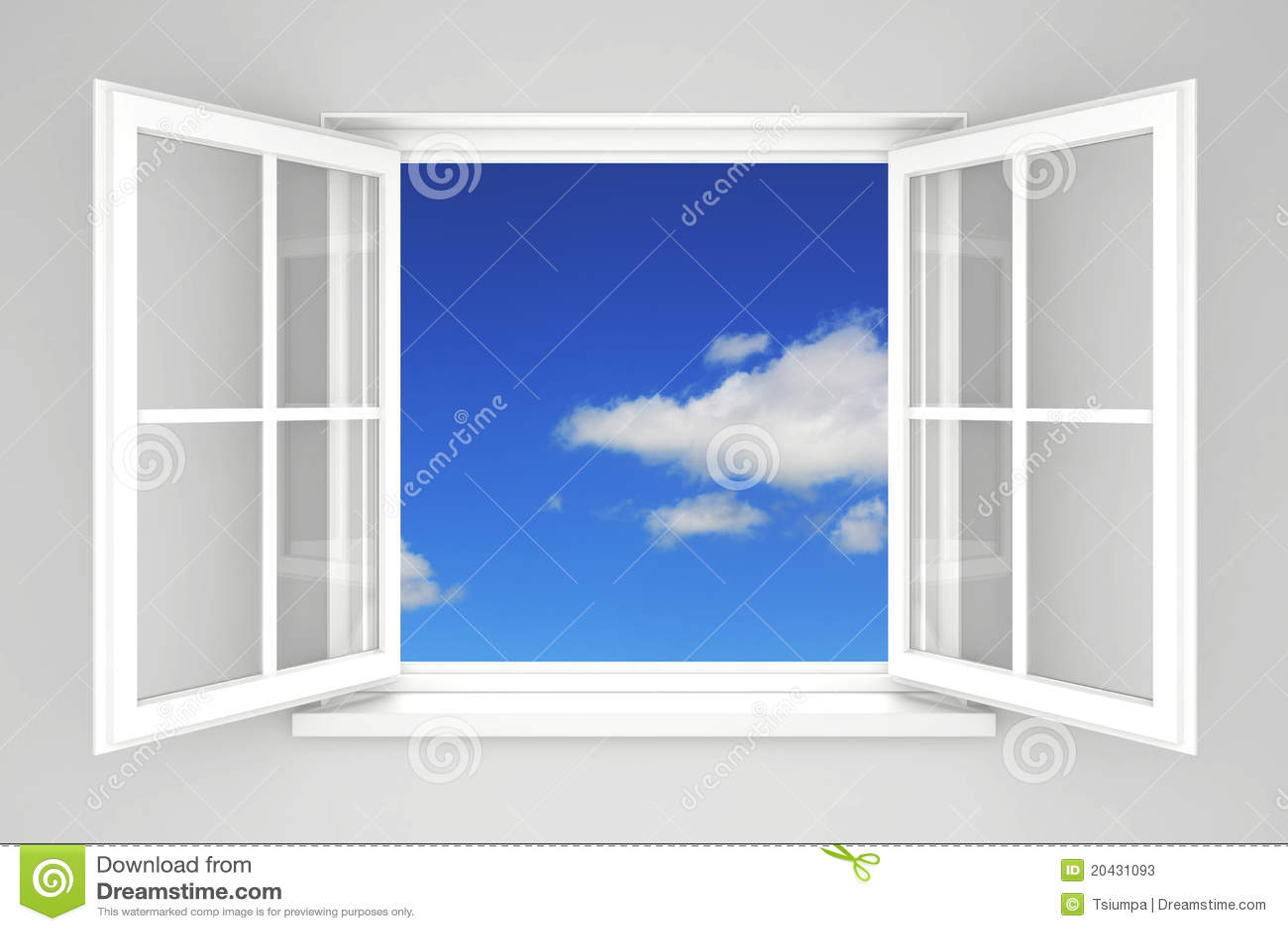 Finestra aperta immagine stock immagine di speranza for Disegno di finestra aperta