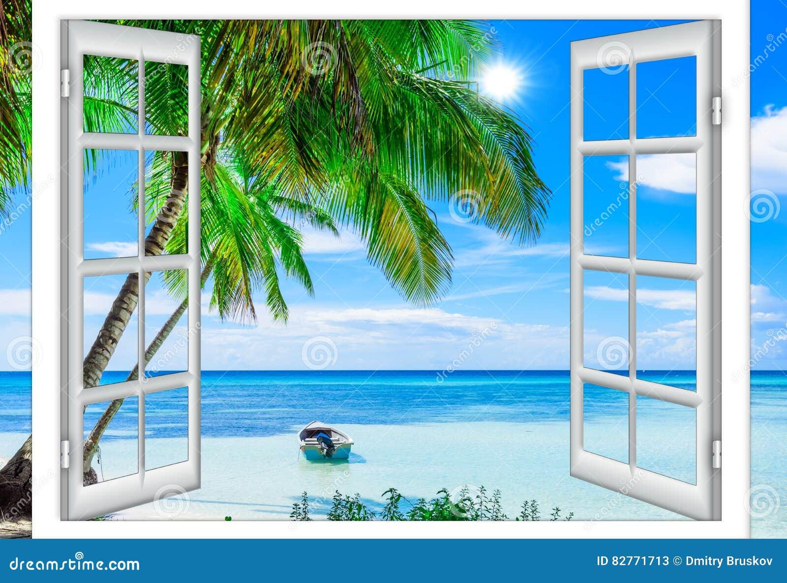 Finestra aperta al mare immagine stock immagine di for Disegno di finestra aperta