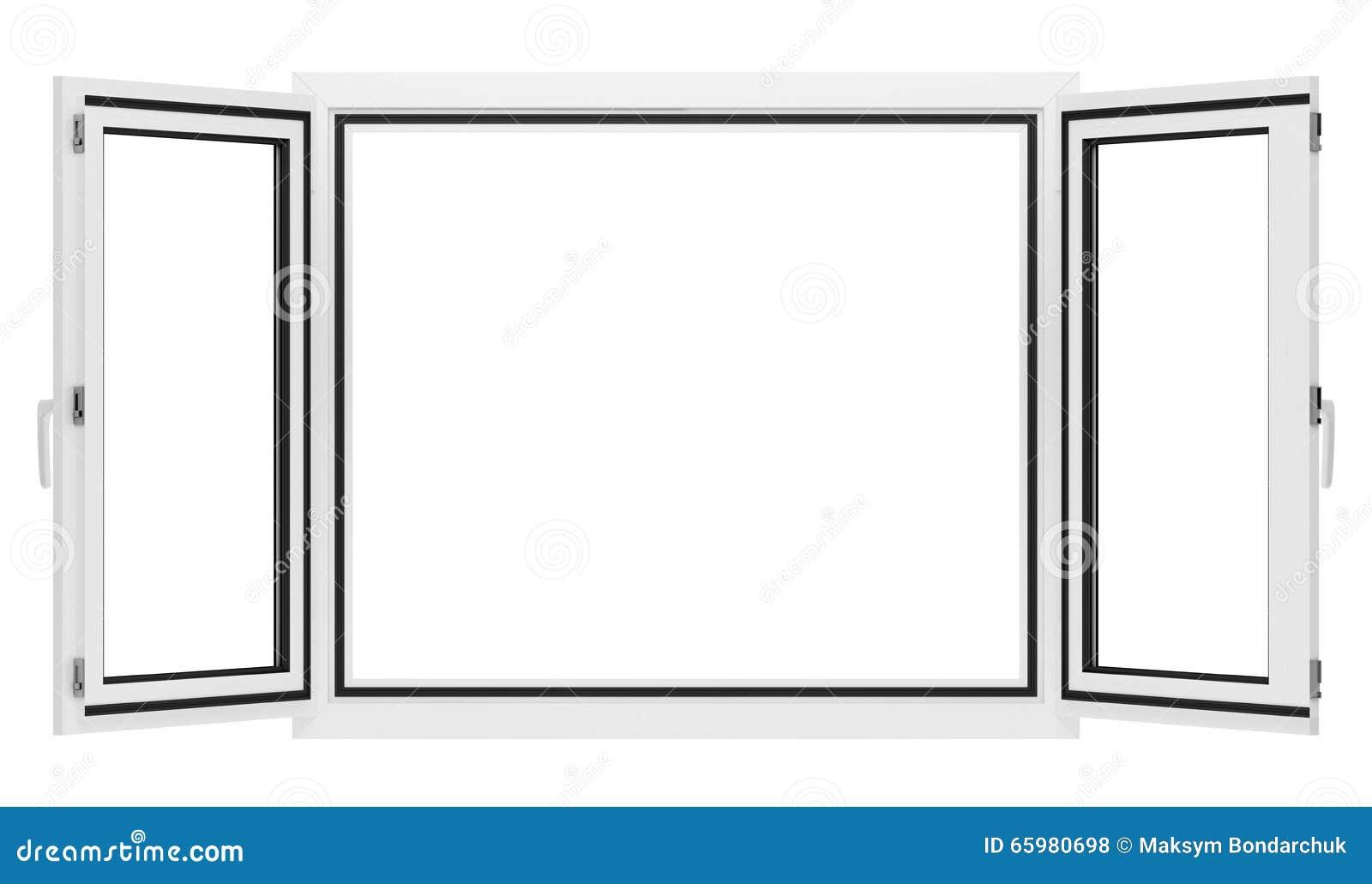 Finestra aperta isolata su bianco illustrazione di stock for Disegno di finestra aperta