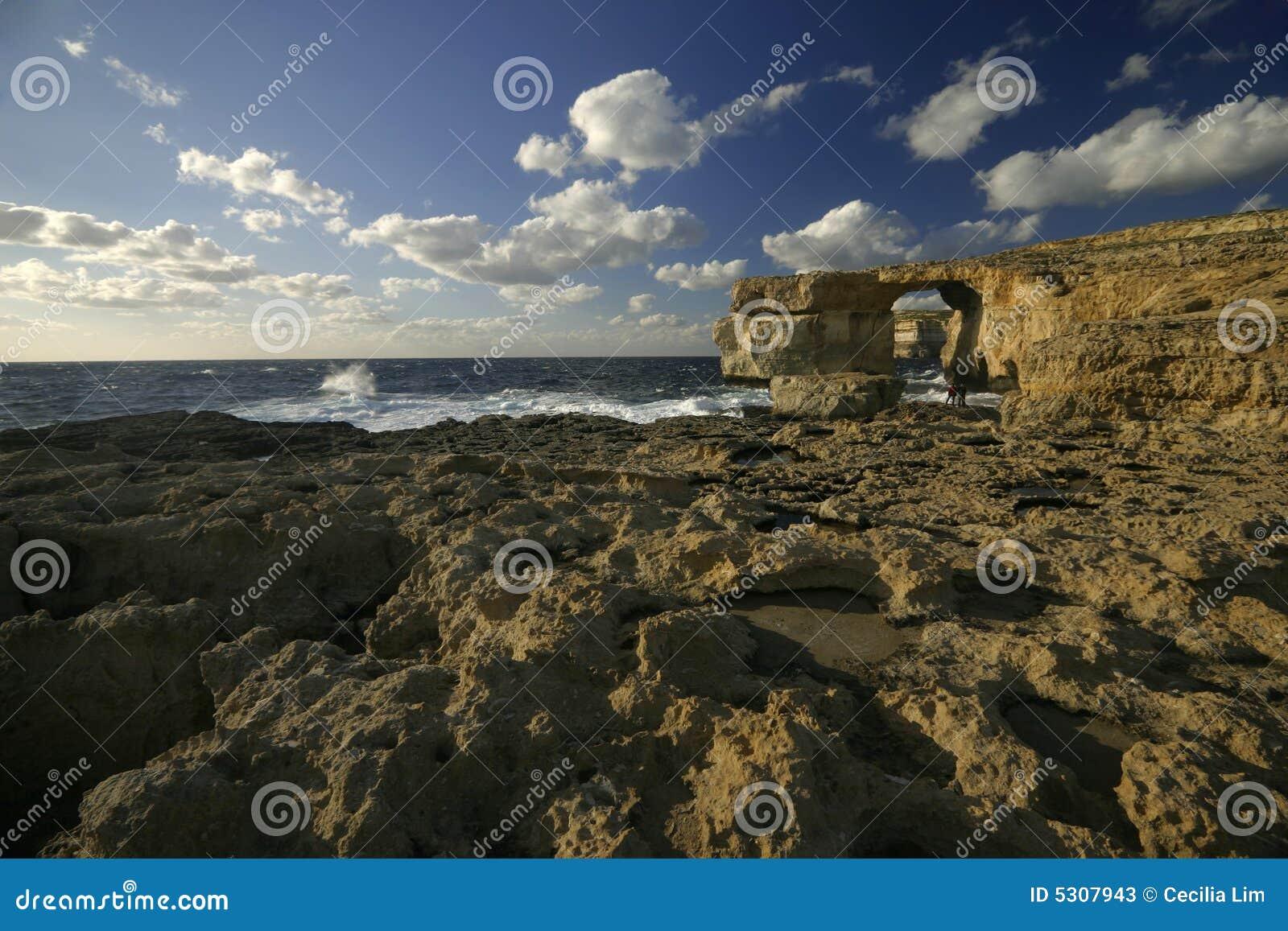 Download Finestra Azzurrata, Isola Di Gozo, Malta Immagine Stock - Immagine di malta, europa: 5307943