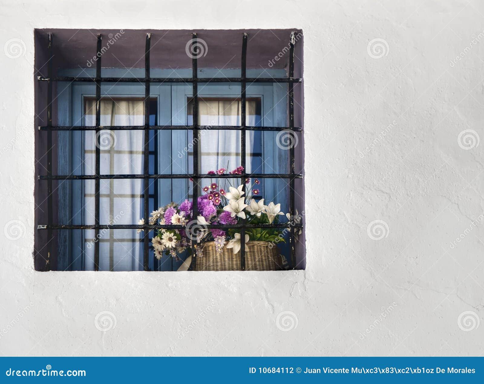 Finestra con i fiori fotografia stock immagine di casa for Finestra con fiori disegno