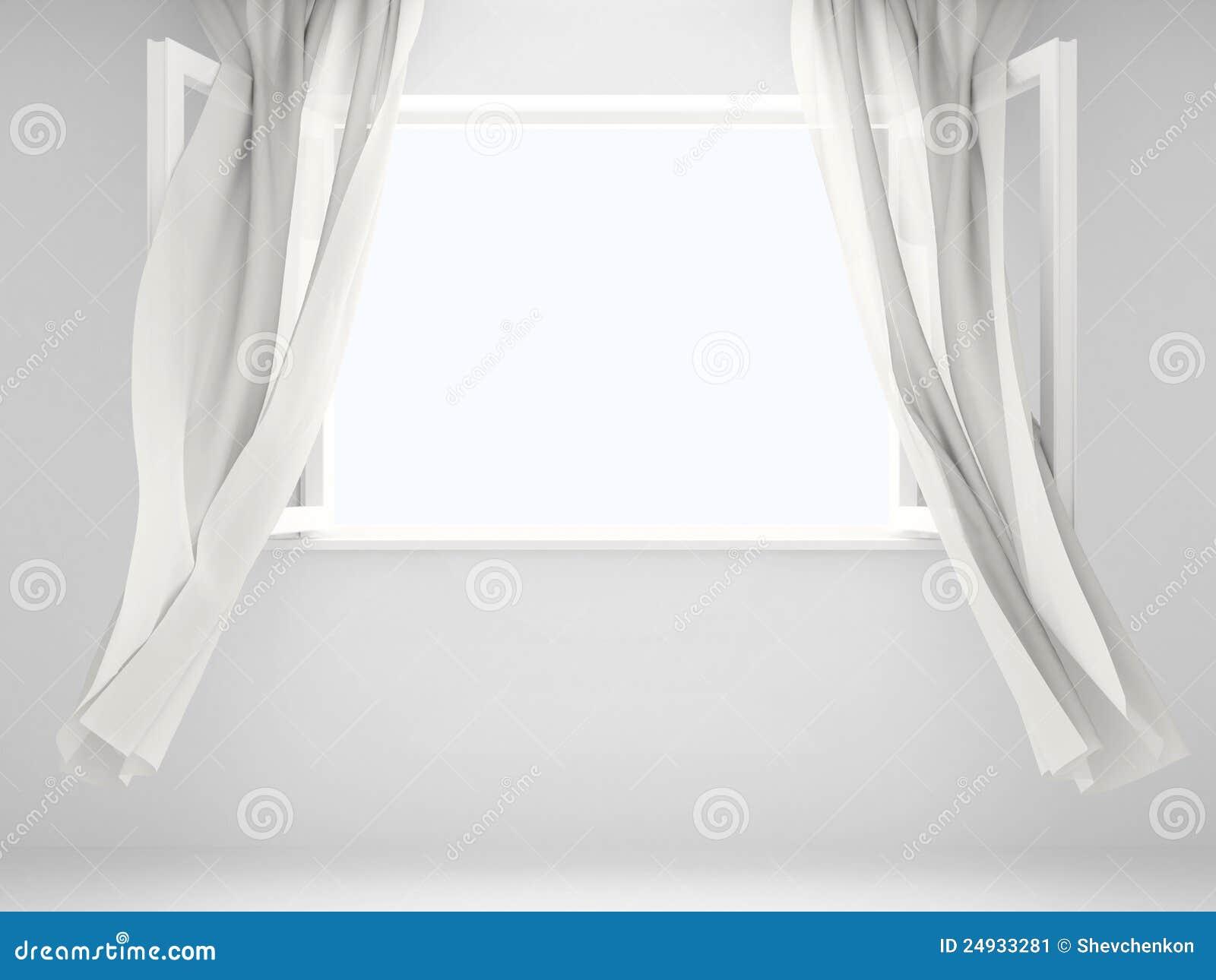Finestra con le tende