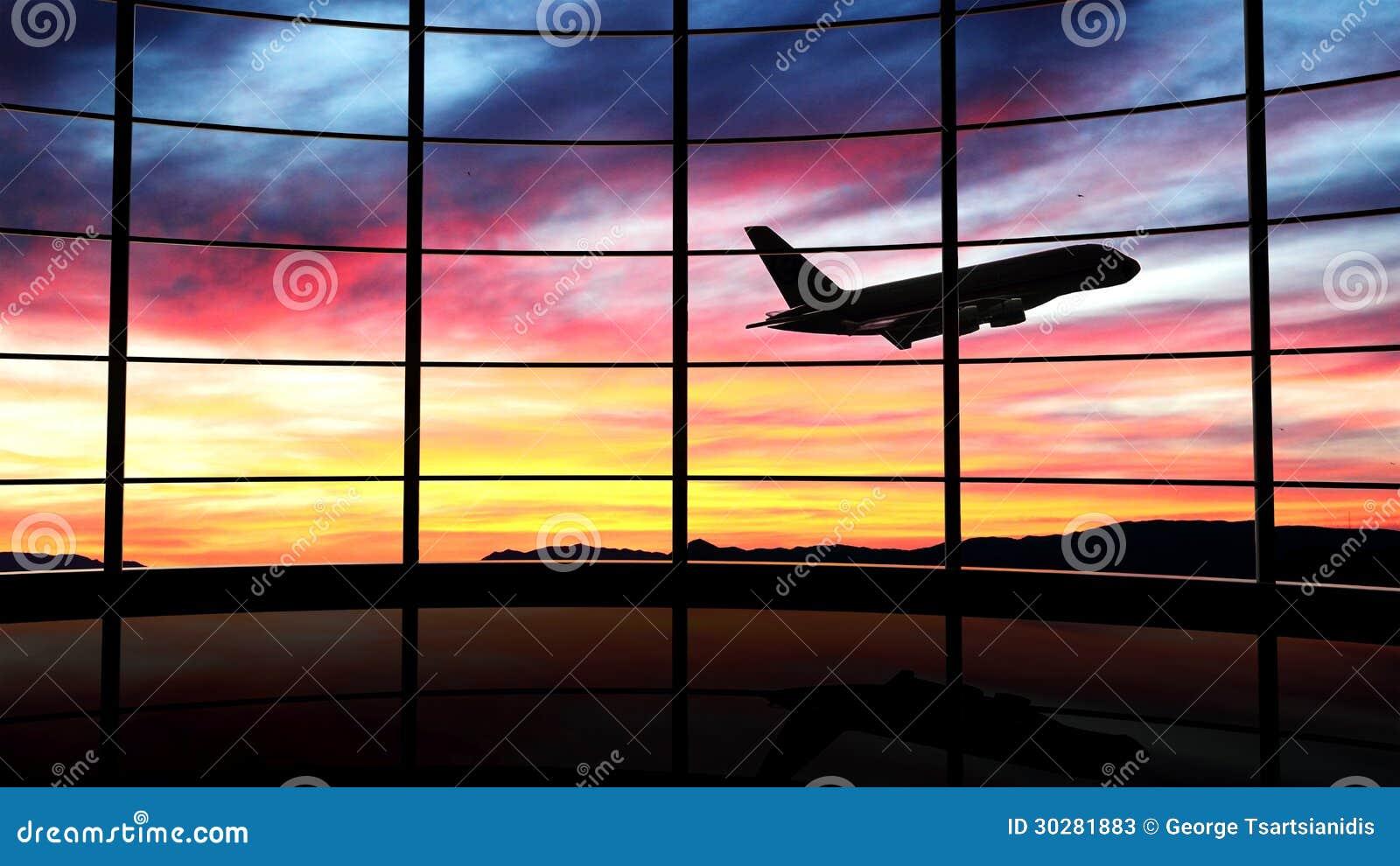 Finestra dell aeroporto