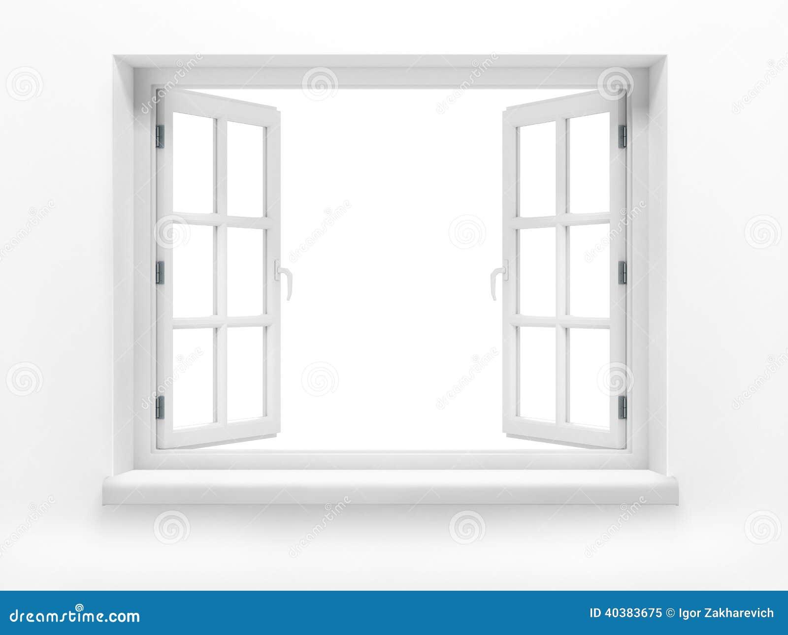 Finestra di plastica aperta immagine stock immagine di for Stock finestre pvc
