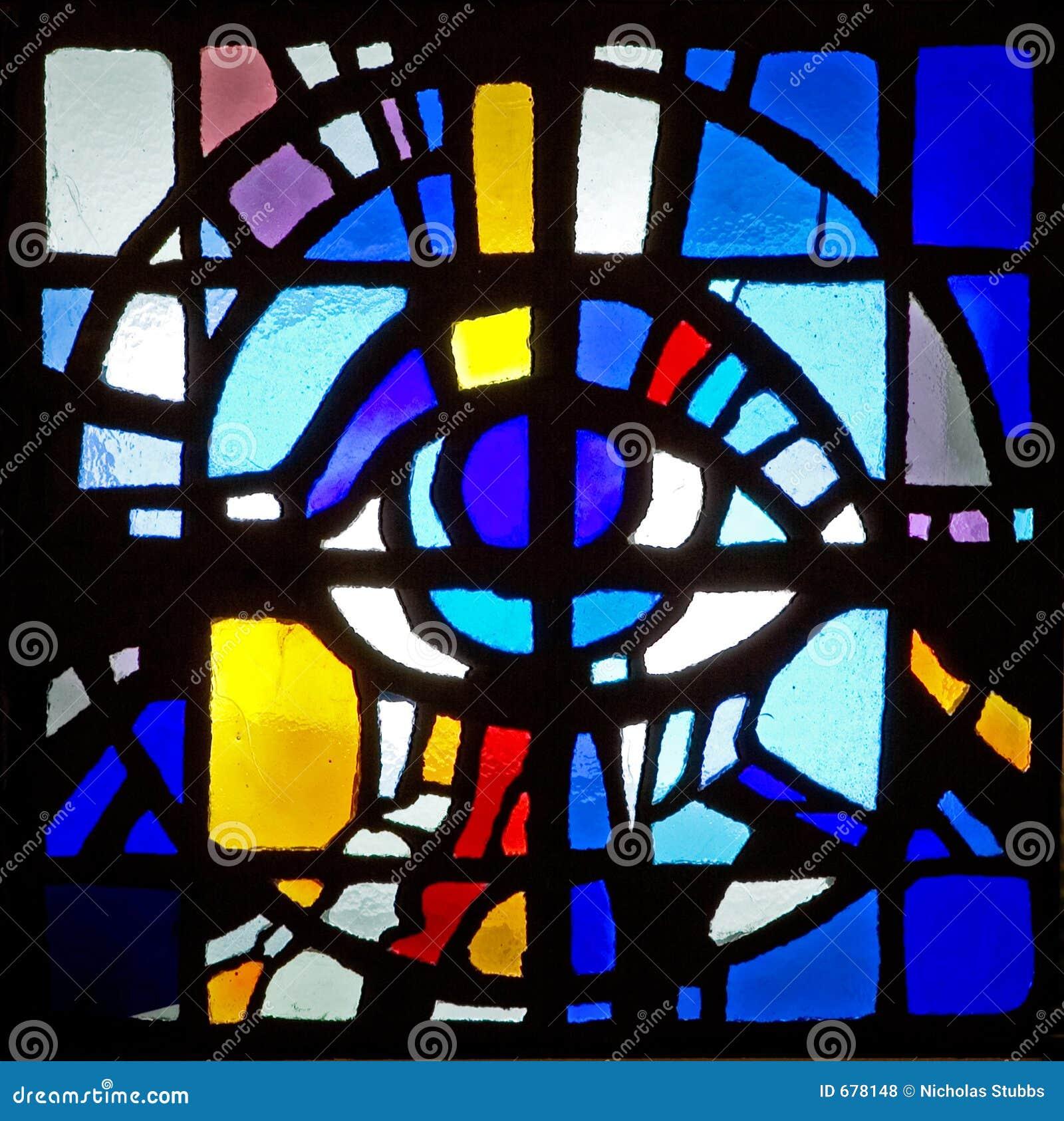 Finestra di vetro macchiata del mosaico Colourful del soffitto in ...