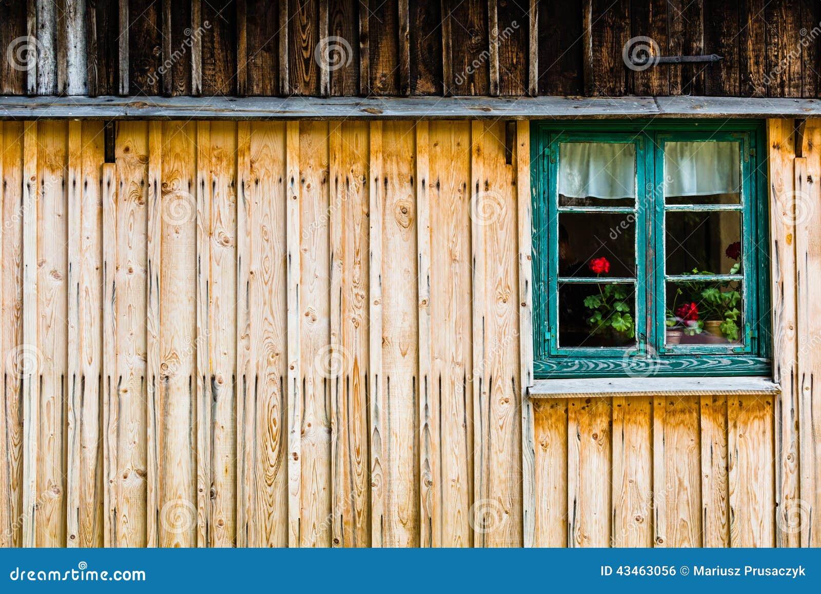 Finestra verde con i fiori rossi fotografia stock for Finestra con fiori disegno
