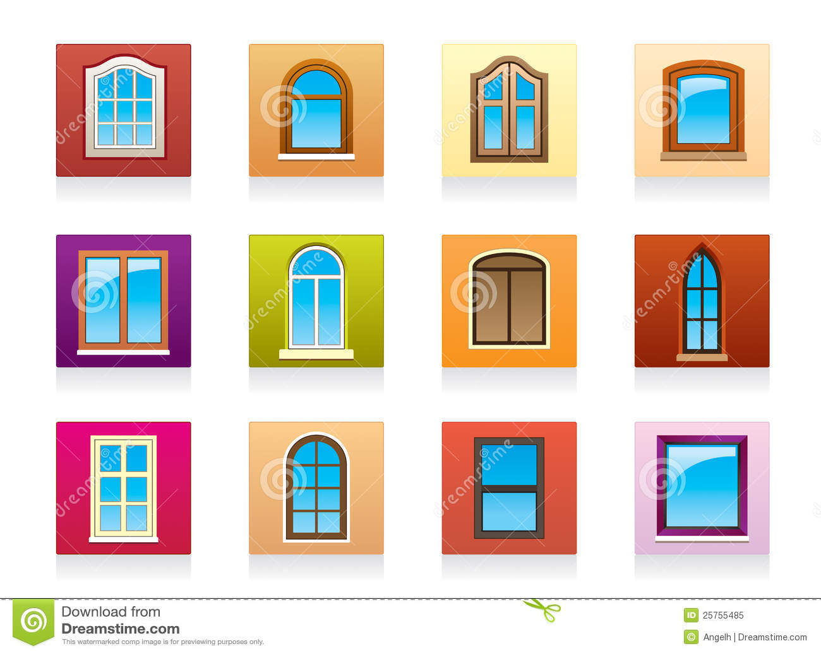 Finestre di legno di alluminio di plastica illustrazione for Finestre di legno