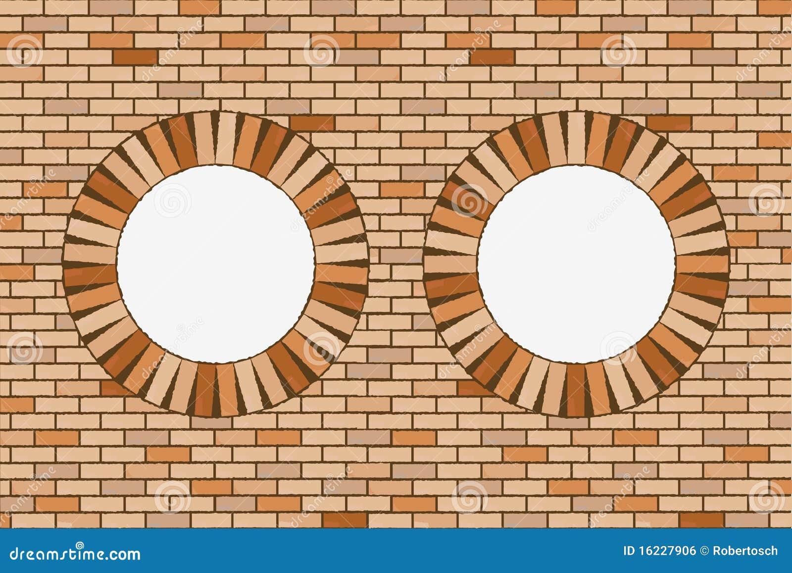 Finestre rotonde del mattone illustrazione vettoriale for Costo del mattone da costruire