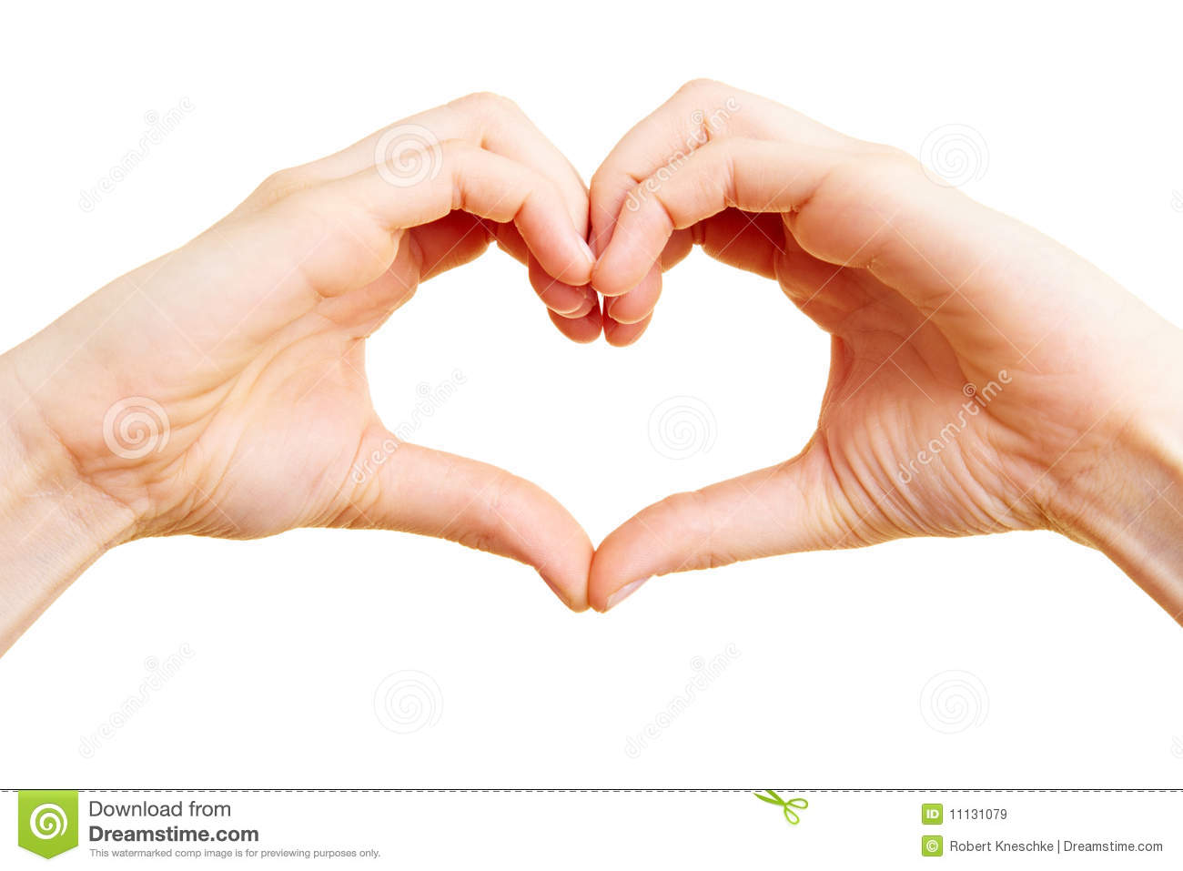 Finger as a heart stock image. Image of woman, cutout ...