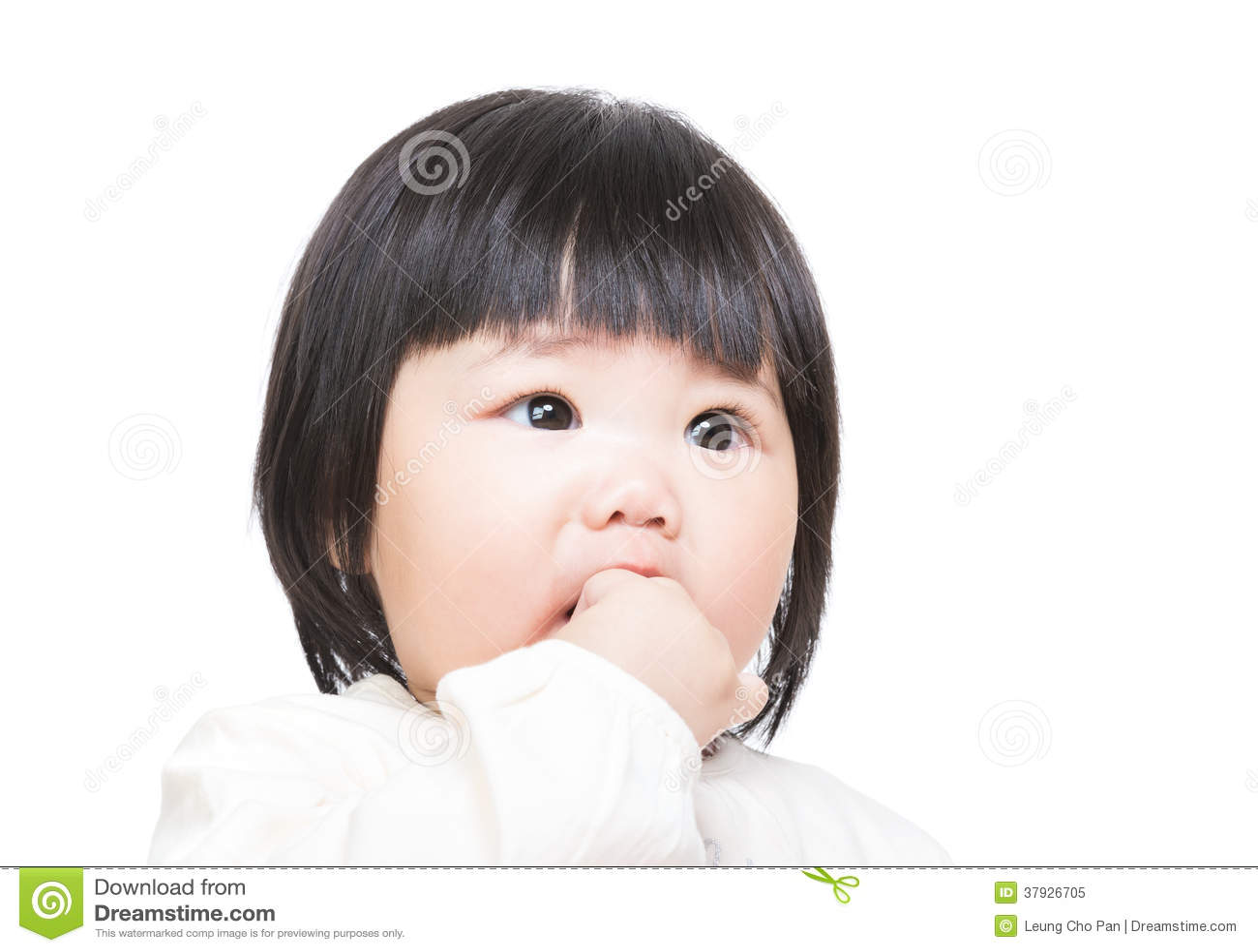 Finger del pedazo del bebé
