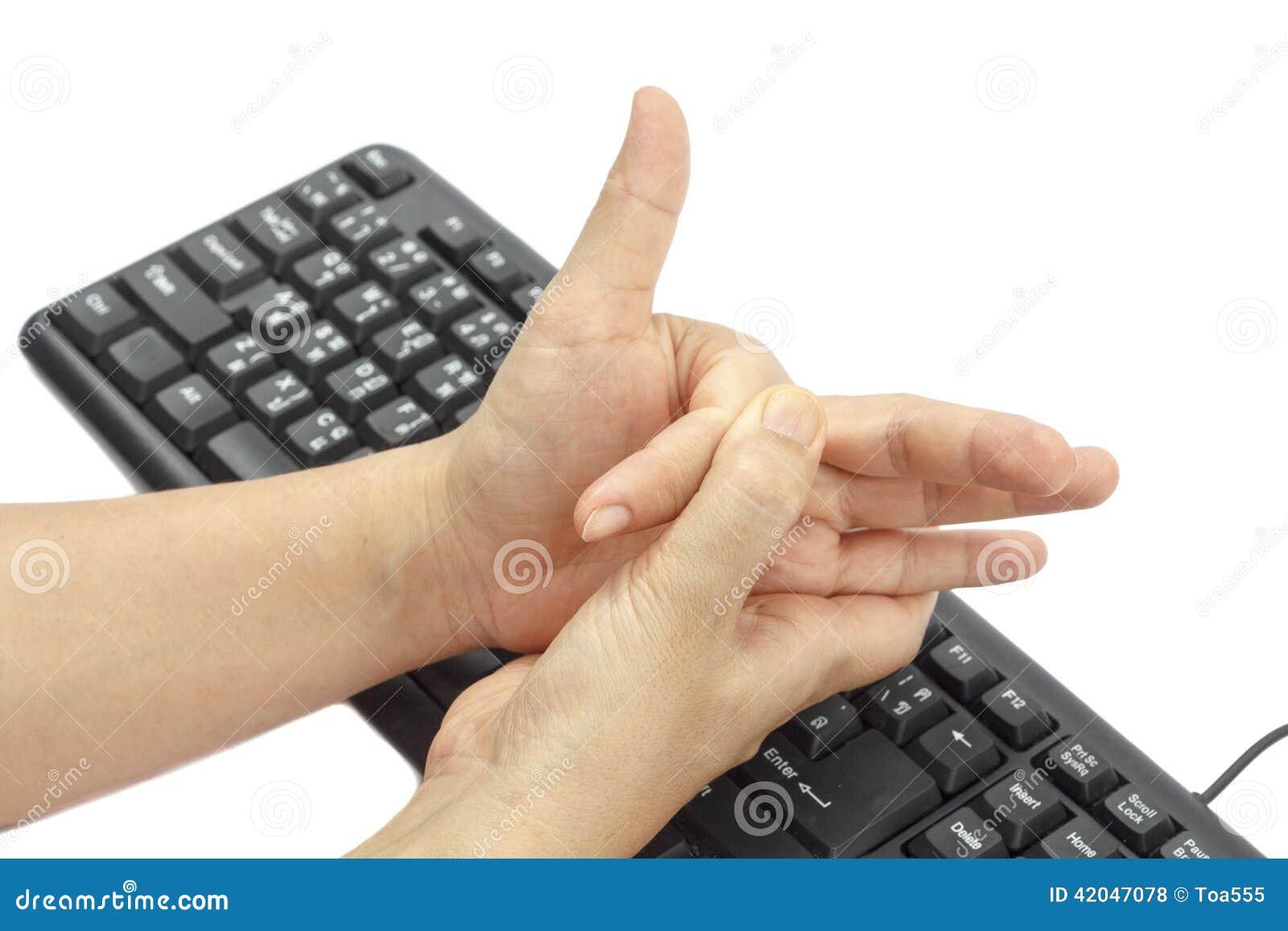 Finger doloroso debido al uso prolongado del teclado