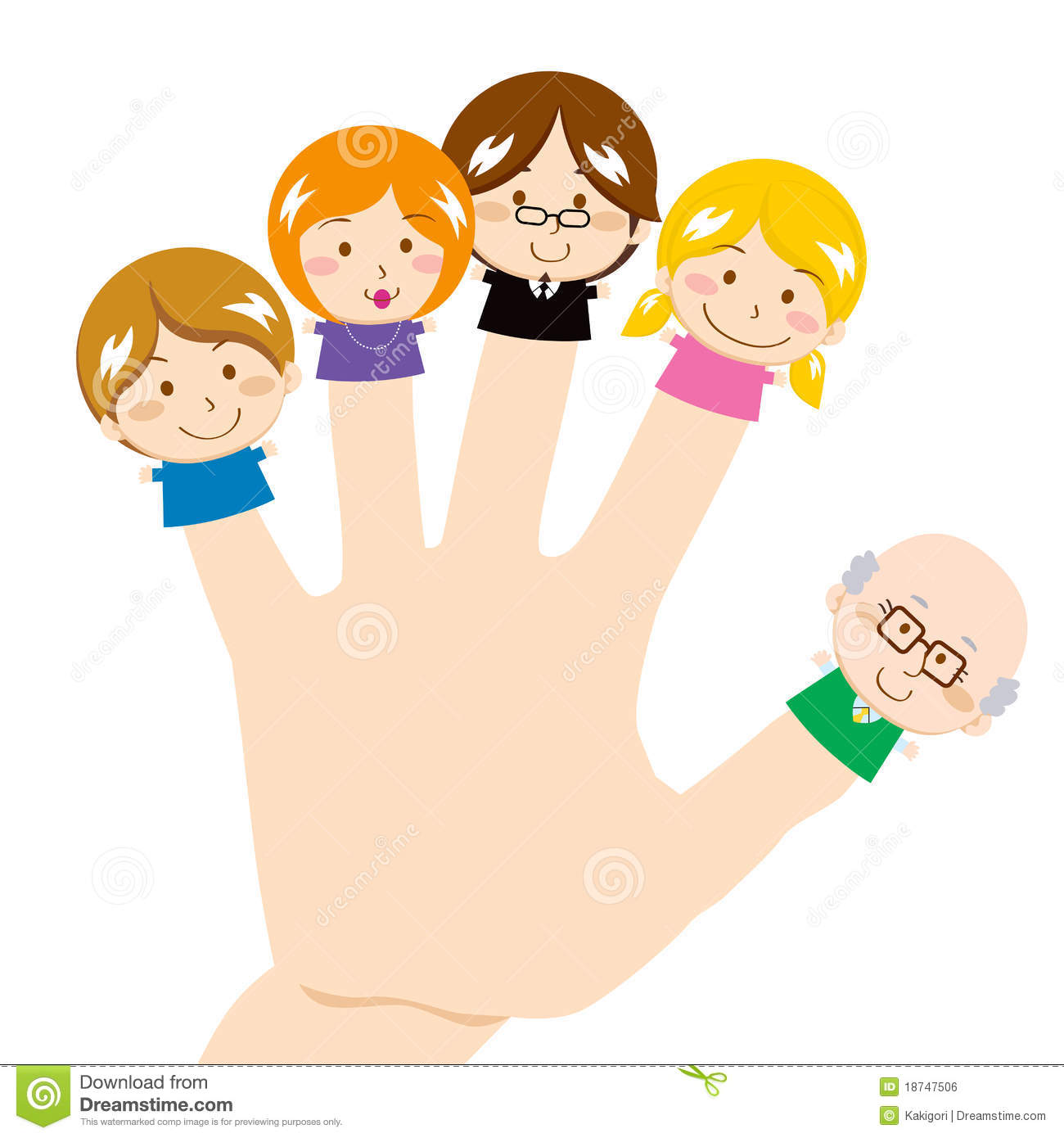 Finger Family Royalty Free Stock Image - Image: 18747506