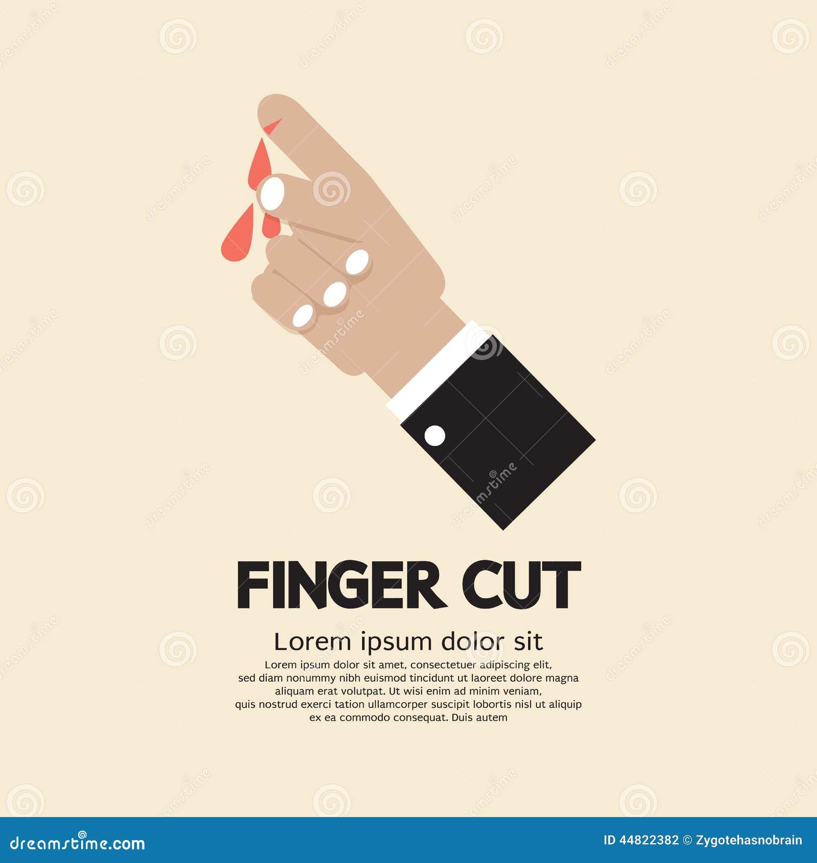 Geschnitten in fingerkuppe Zum Arzt,