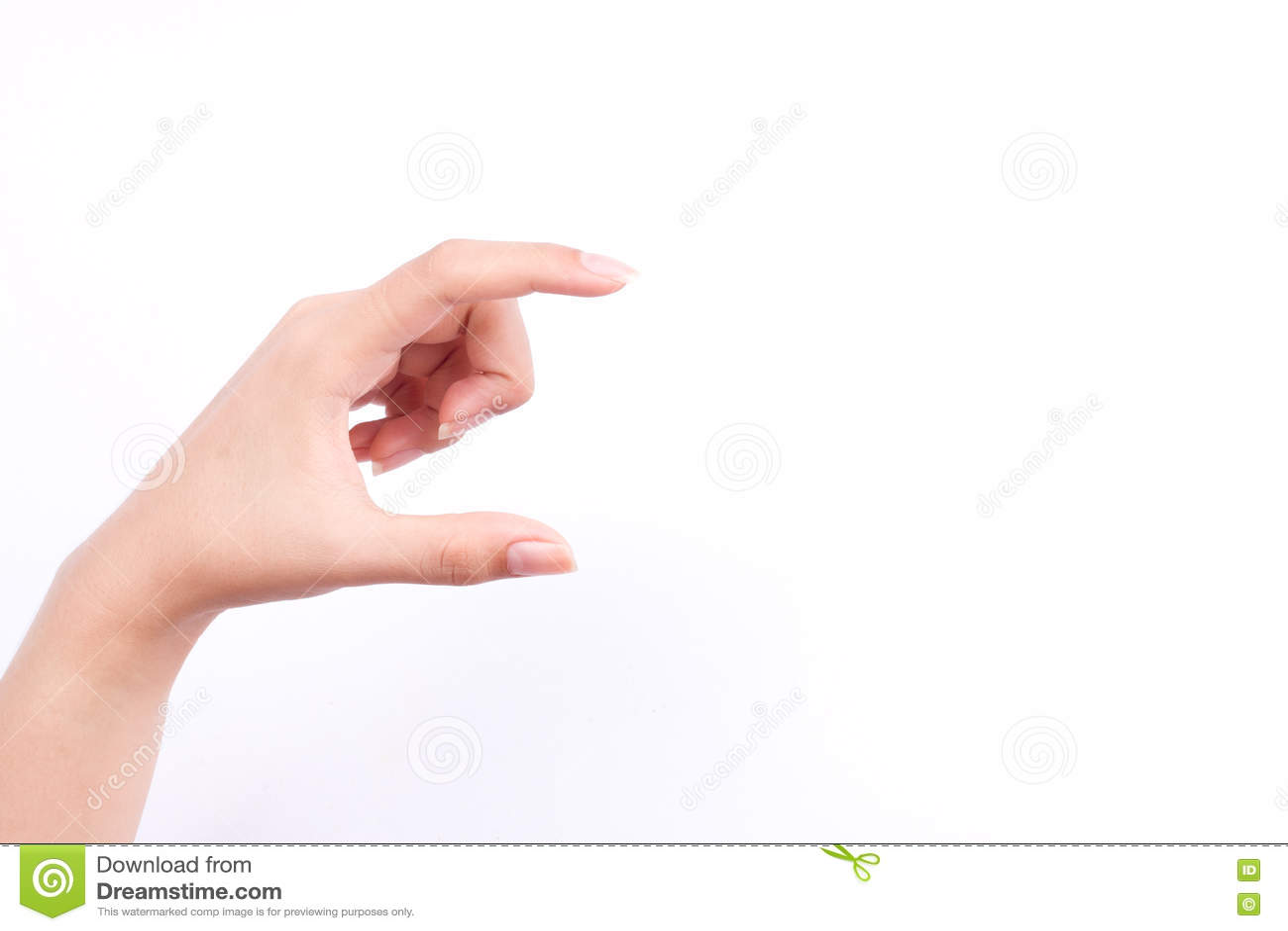 Finger Hand Symbols Concept Woman Hand Holding A Futuristic ...