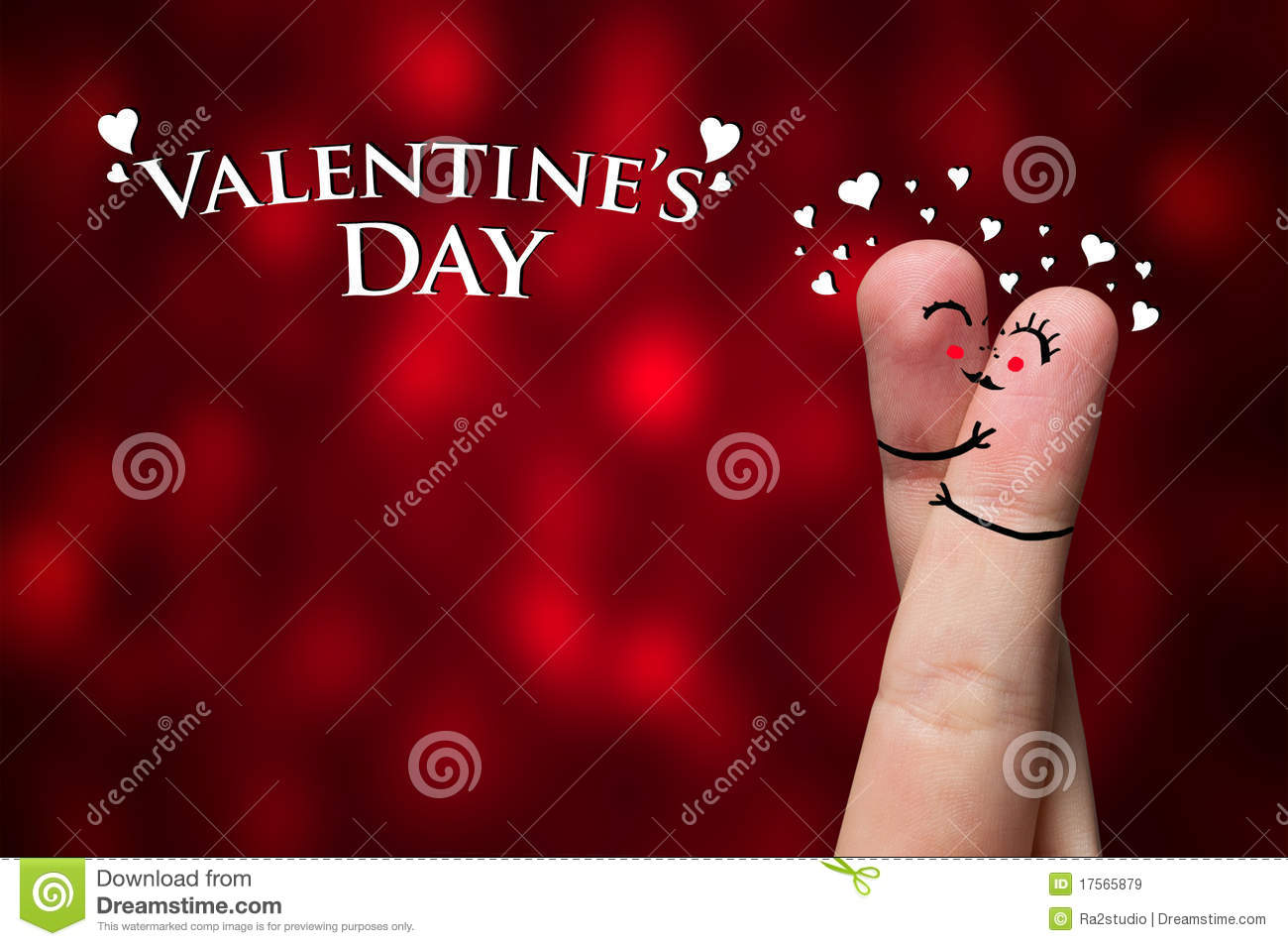 Finger Hug On Valentine S Day Theme Stock Image Image Of Family