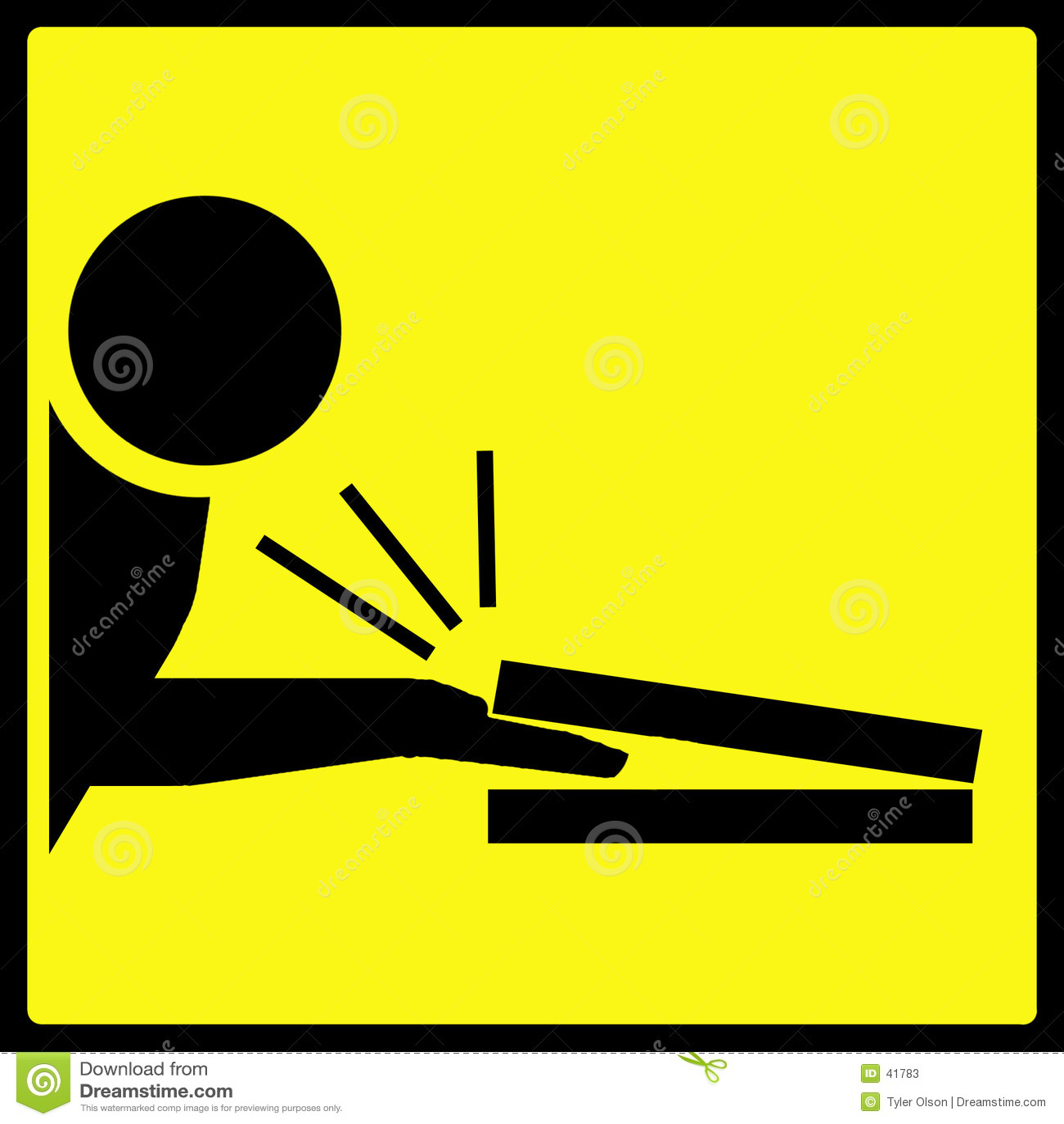 Finger klemmten Warnzeichen