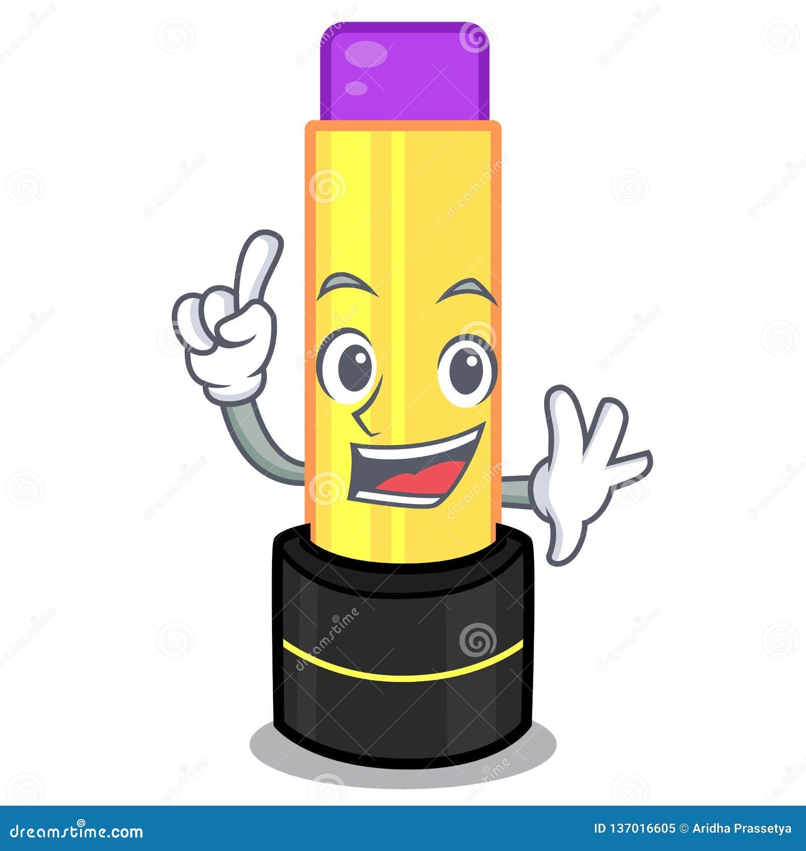 Finger lip balm in the cartoon shape