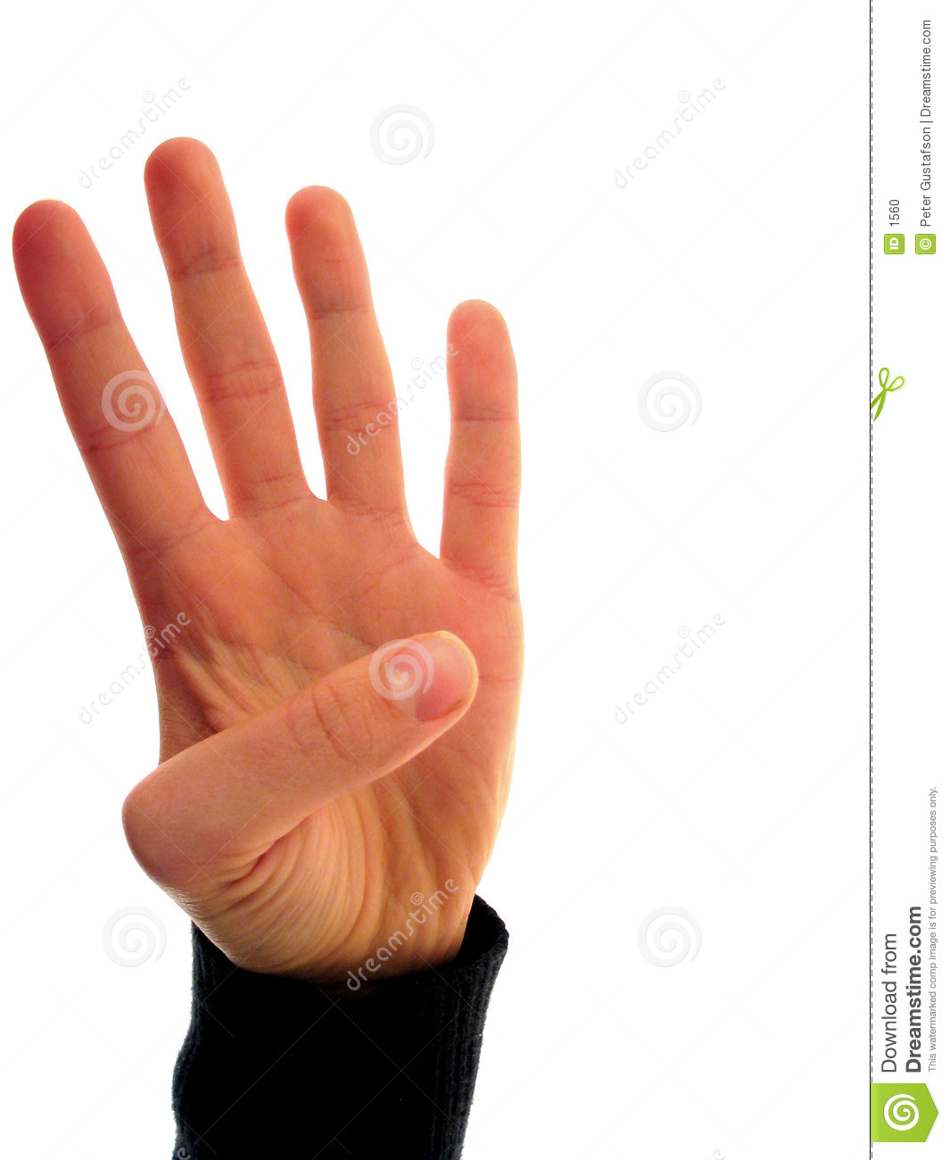 Finger Numbers 4 Stock Photo - Image: 1560