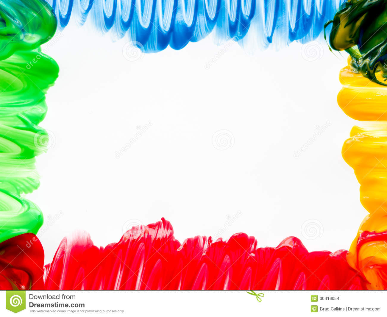 Finger painting frame stock photo. Image of green, color - 30416054