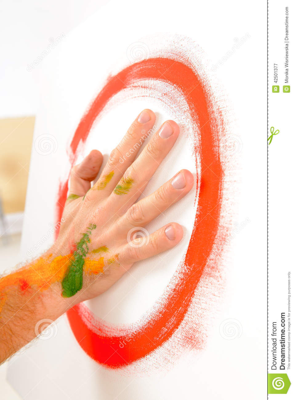 finger painting paint with palms stock image image of imagination