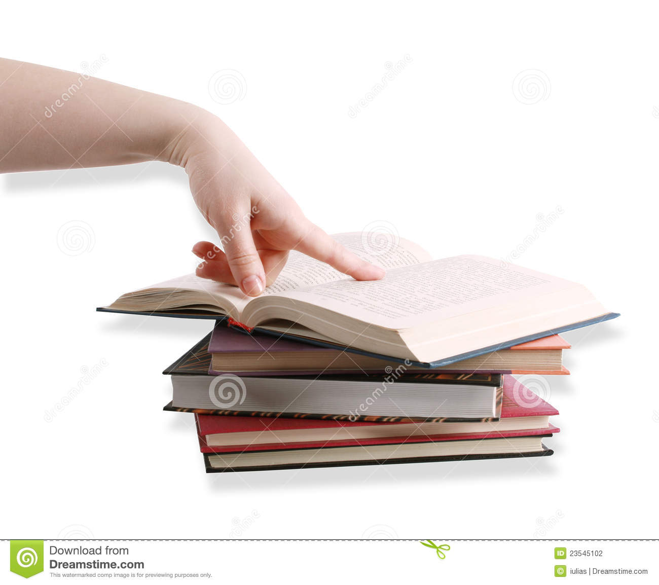 Finger Pointing On A Book Stock Photography - Image: 23545102
