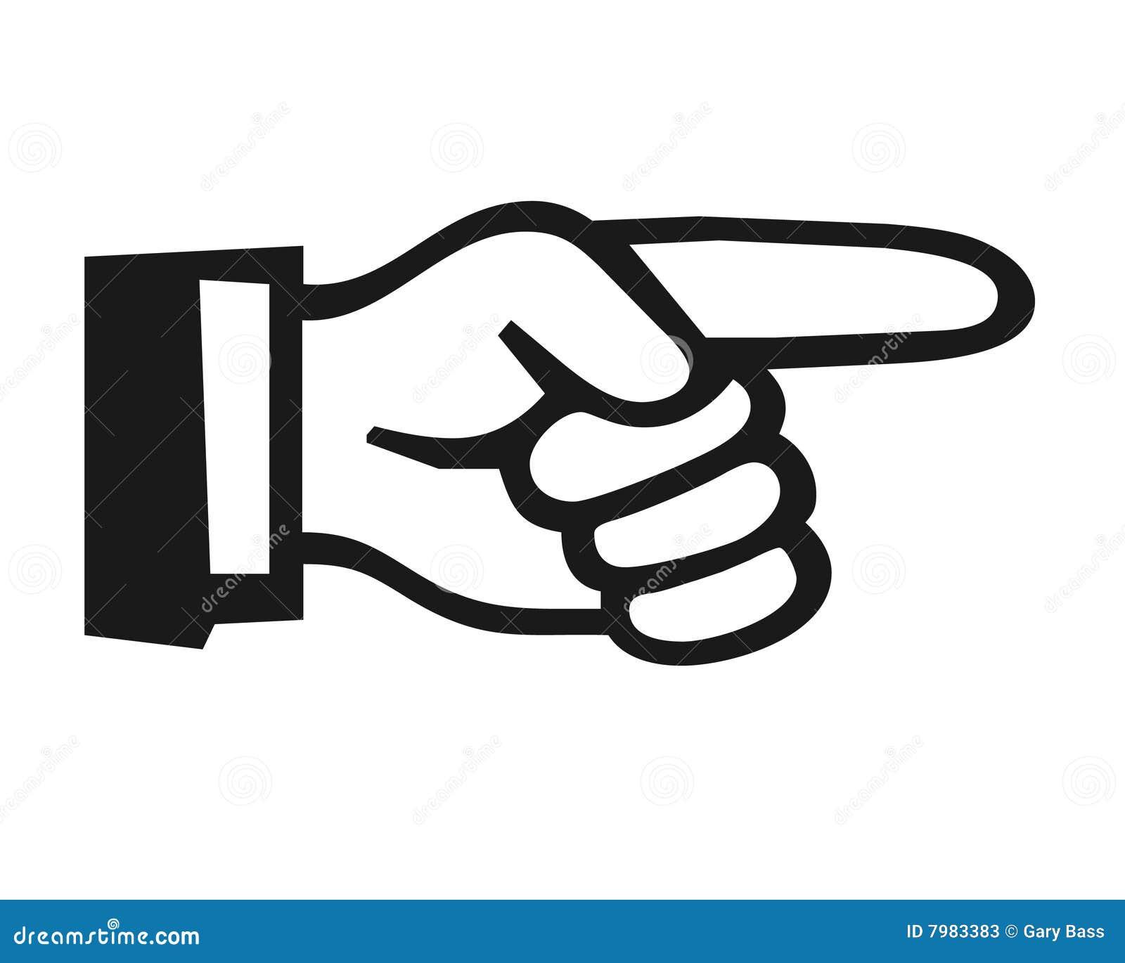Finger Pointing Symbol Stock Illustration Illustration Of Closeup