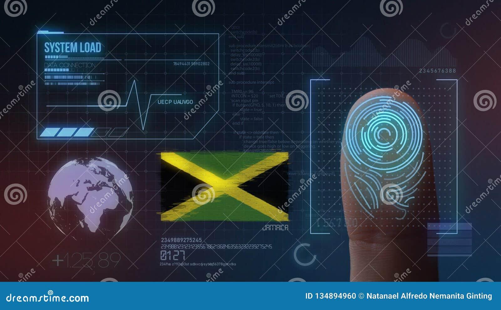 Finger Print Biometric Scanning Identification System. Jamaica Nationality