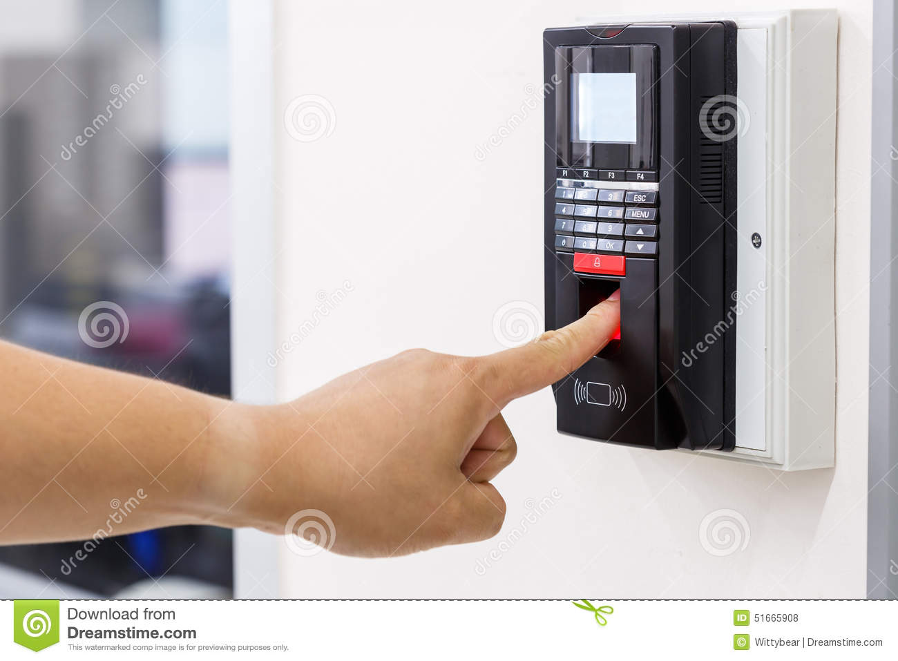Finger Scan For Security System Stock Photo Image 51665908