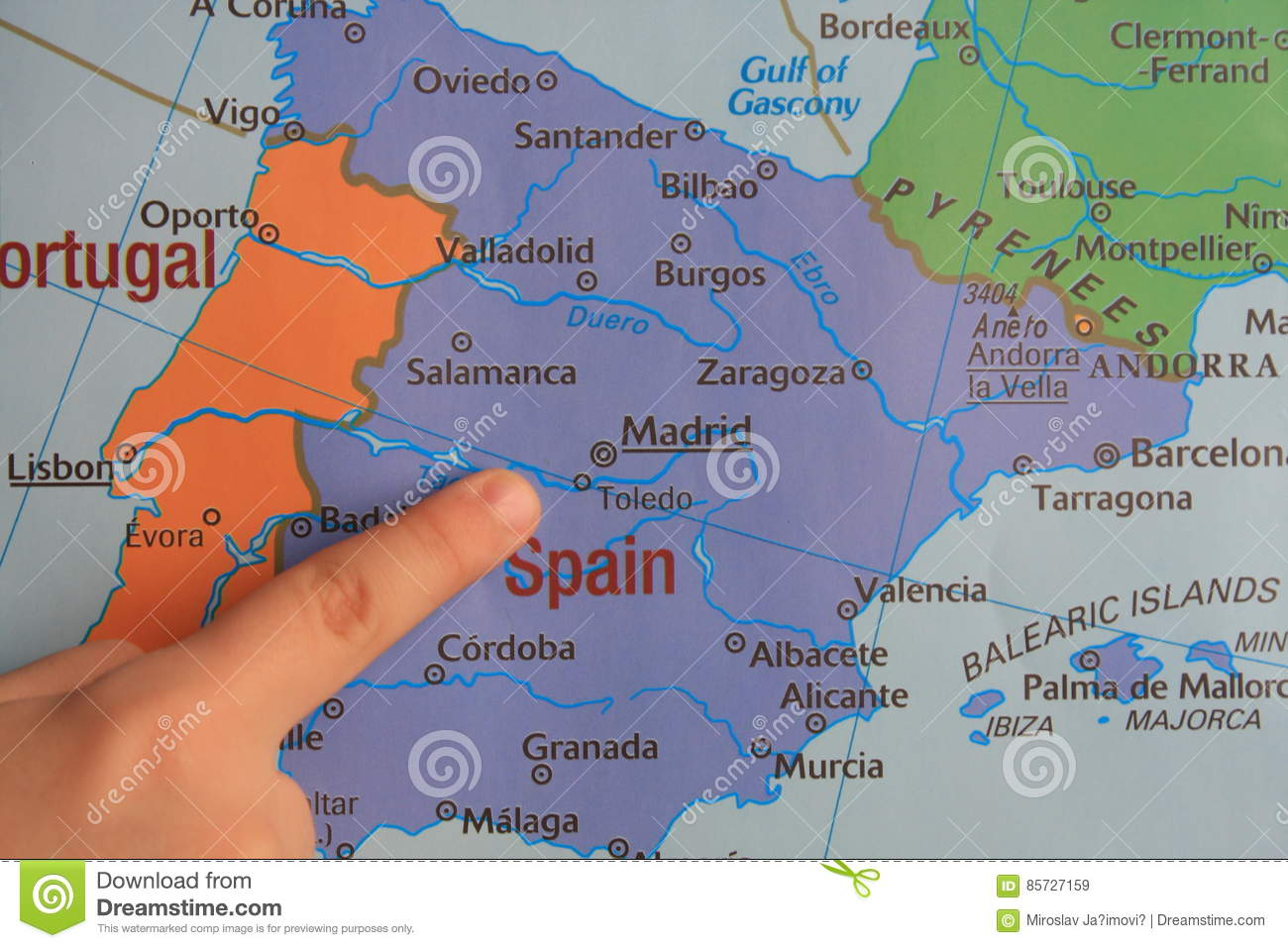 Finger Show S Part Of Europe Stock Image Image Of Earth Country