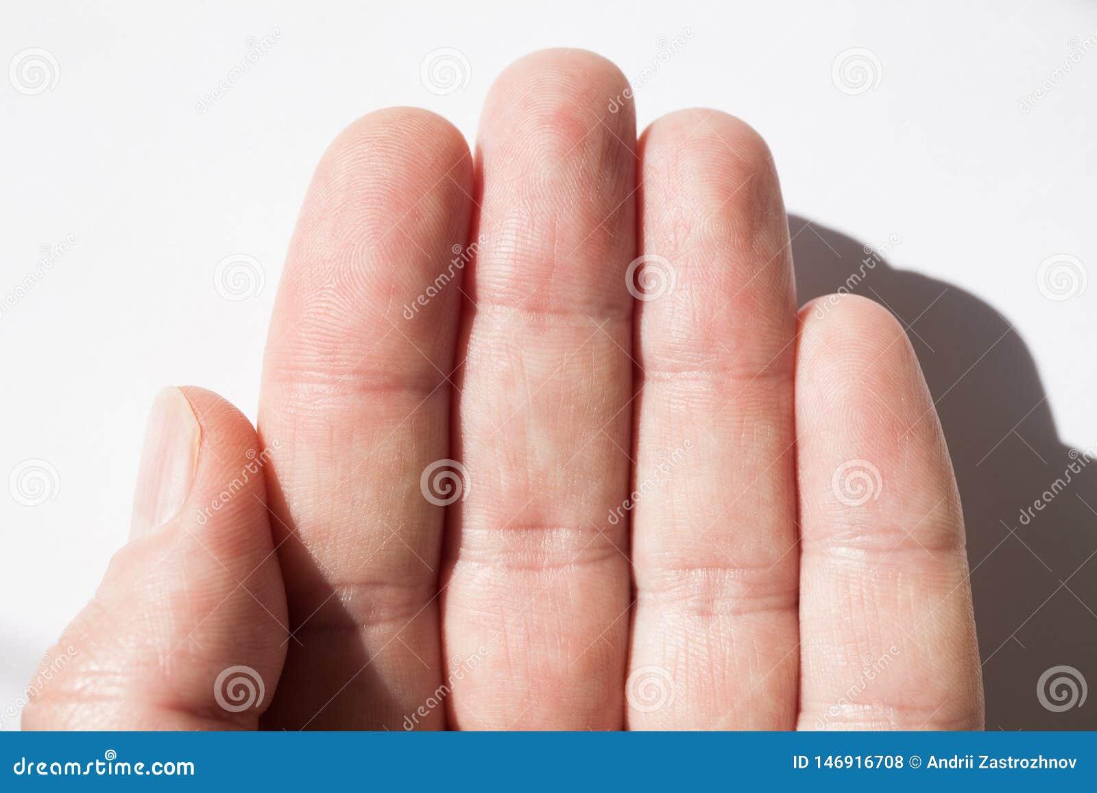 Finger skin texture, fingerprint close-up