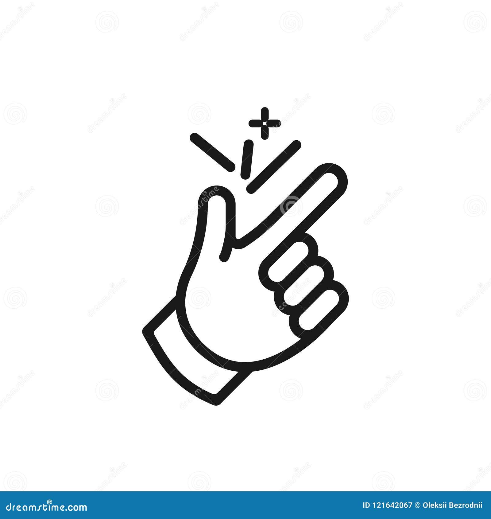 Finger Snap Icon Ok Stock Vector Illustration Of Easy 121642067