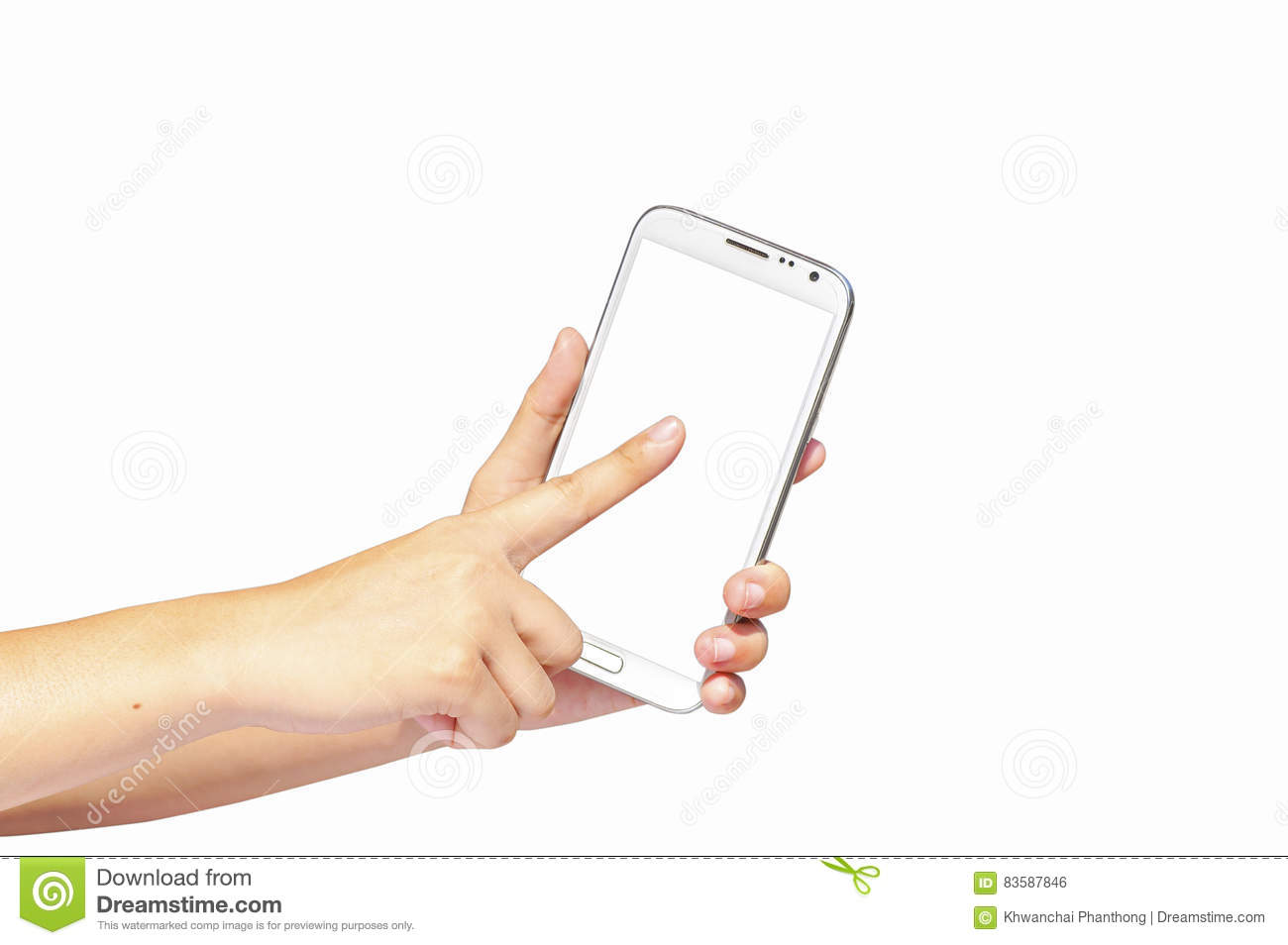 Finger touch screen and hand hold cell phone