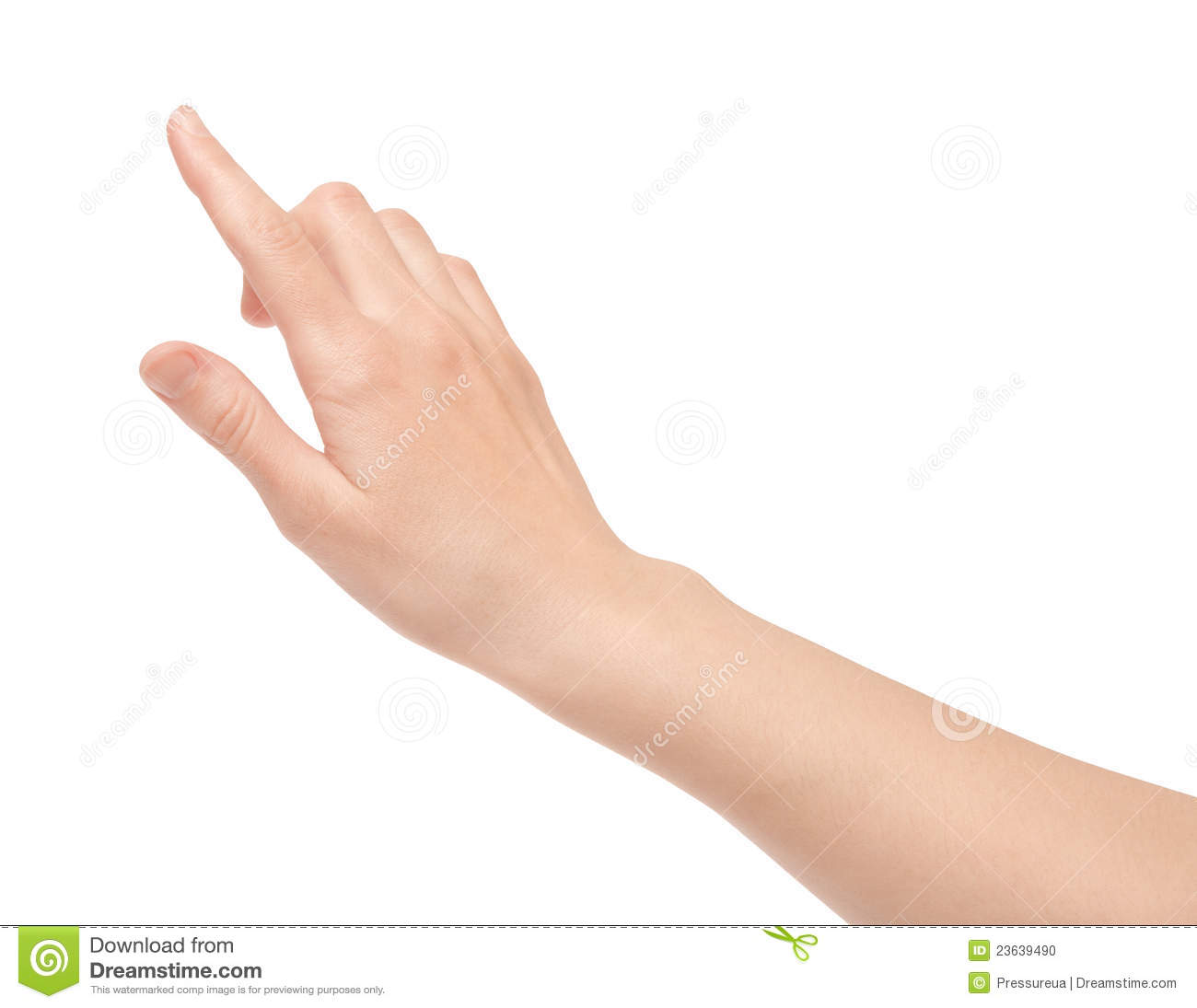 finger touch virtual screen isolated stock photo image of digital