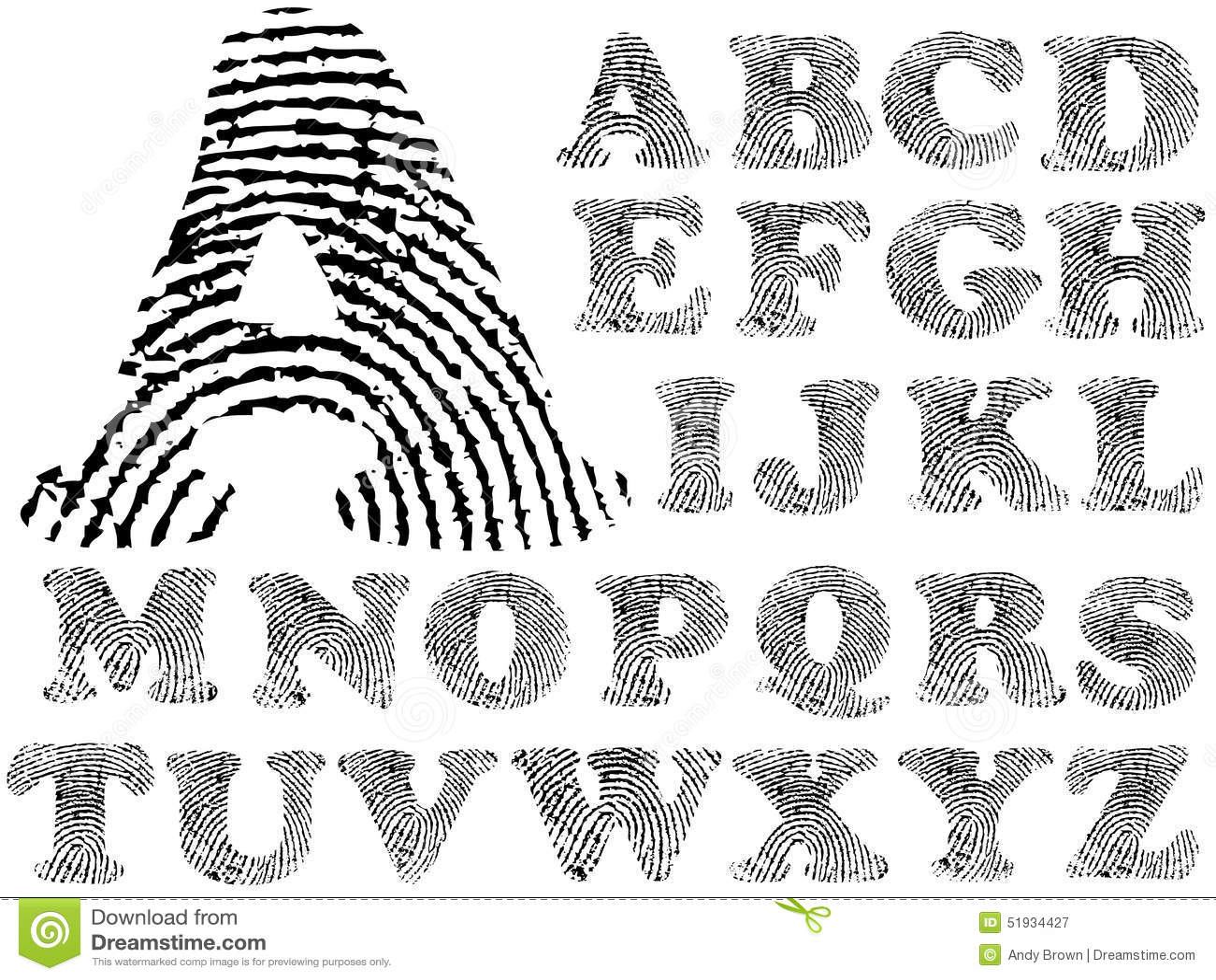 Fingerabdruck-Alphabet