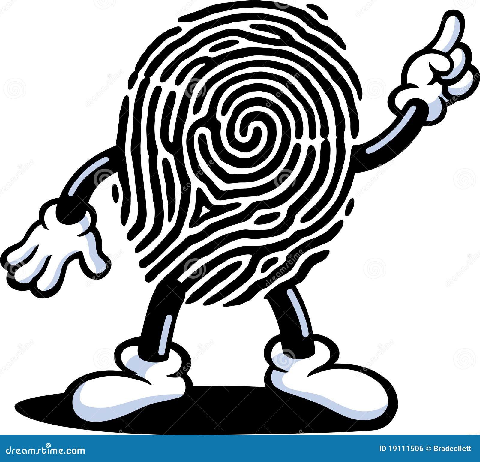 Fingerabdruck-Kerl