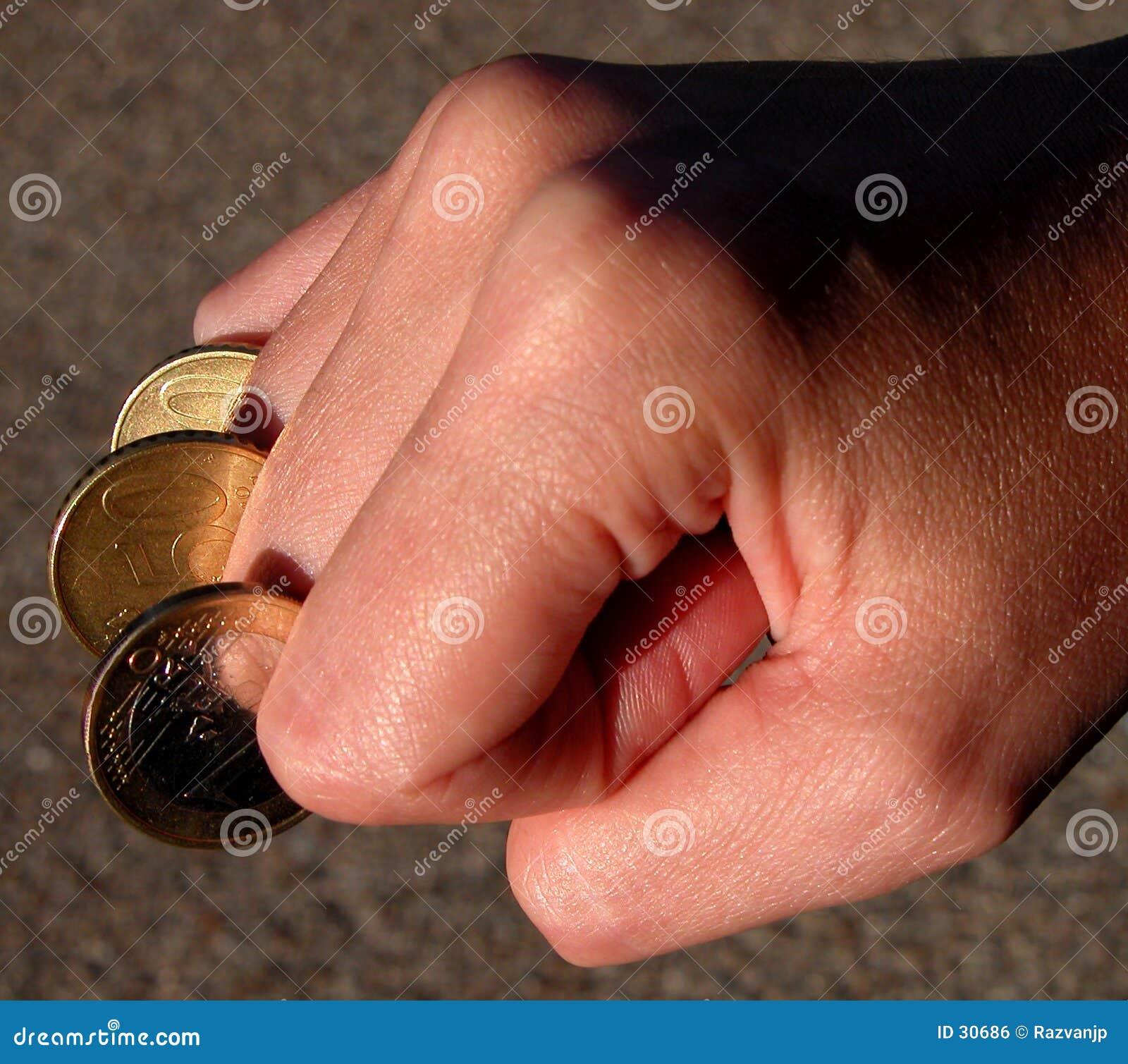 Fingercoins-macht van het geld